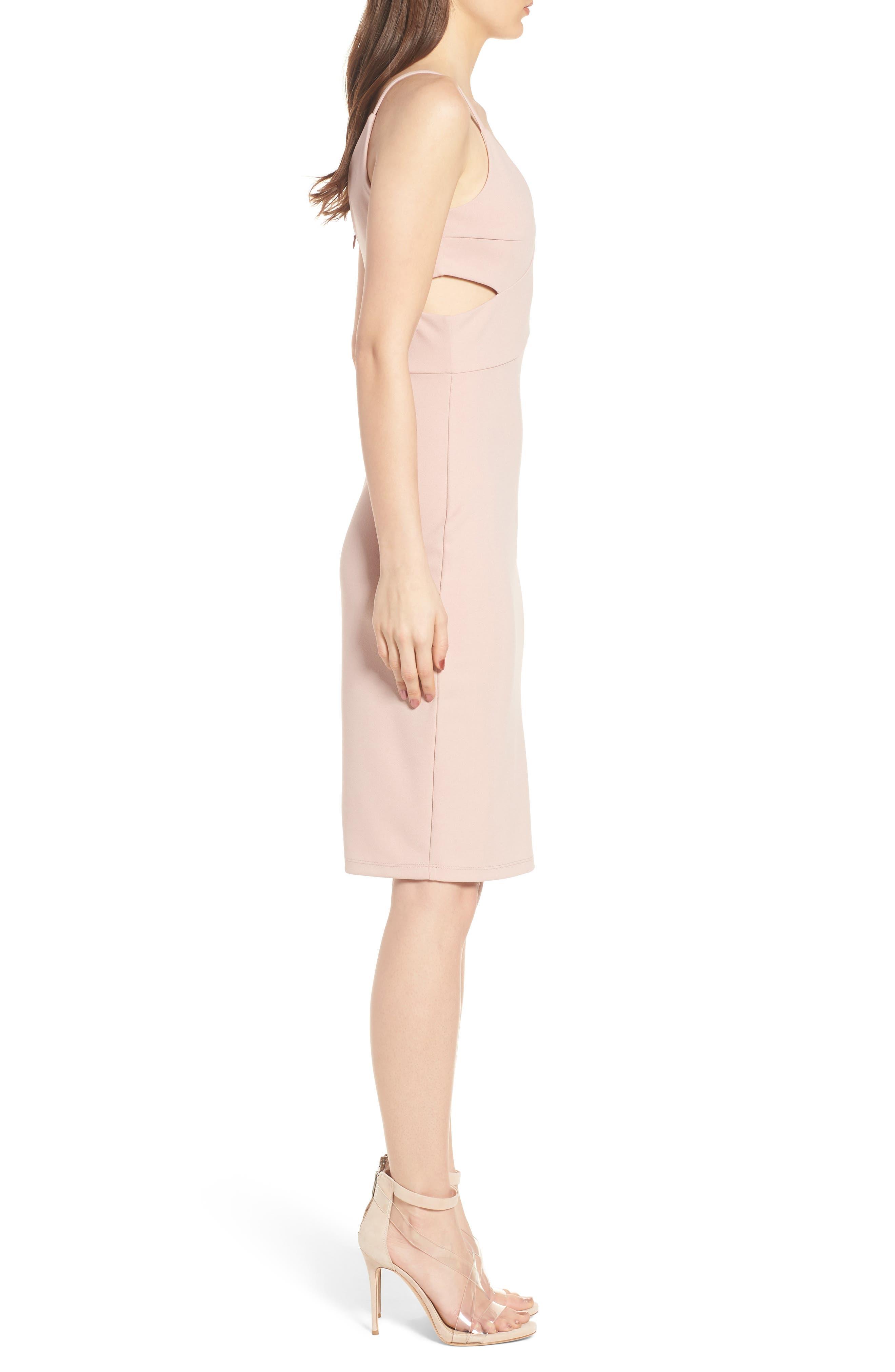 Side Cutout Body-Con Dress,                             Alternate thumbnail 6, color,