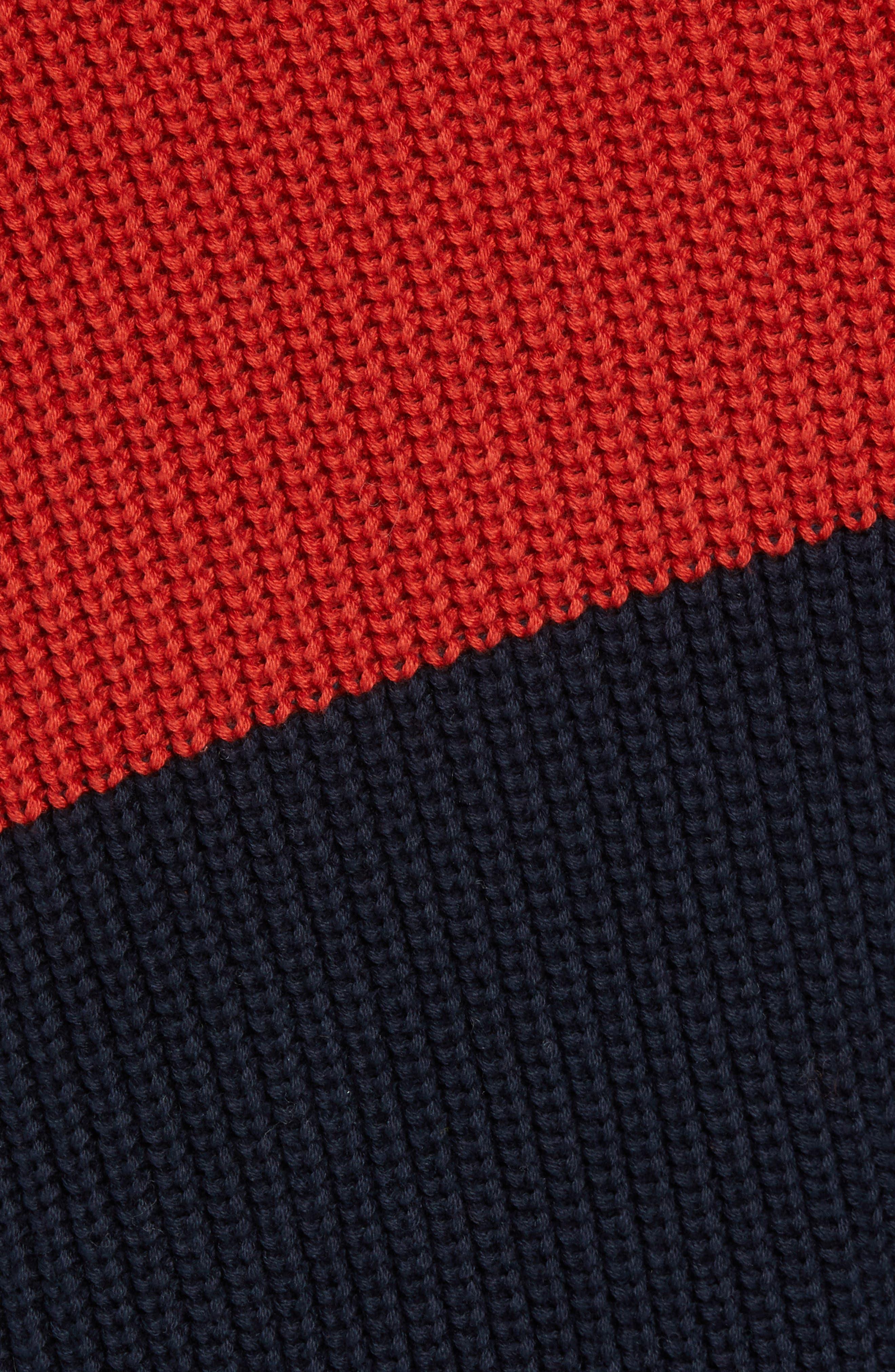Asymmetrical Colorblock Sweater,                             Alternate thumbnail 5, color,                             ROOIBOS TEA