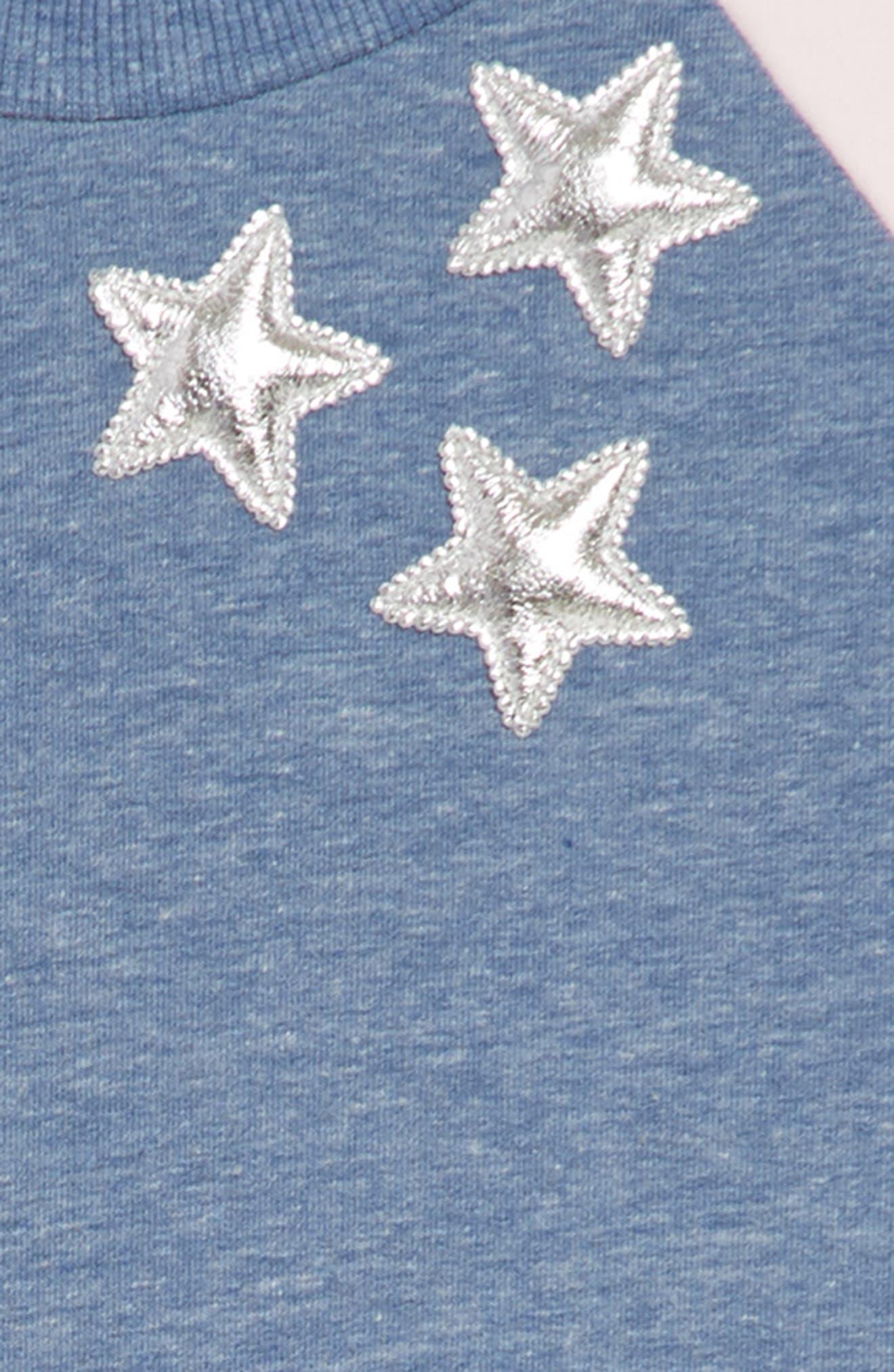 Star Tank Dress & Sweatshirt Set,                             Alternate thumbnail 4, color,