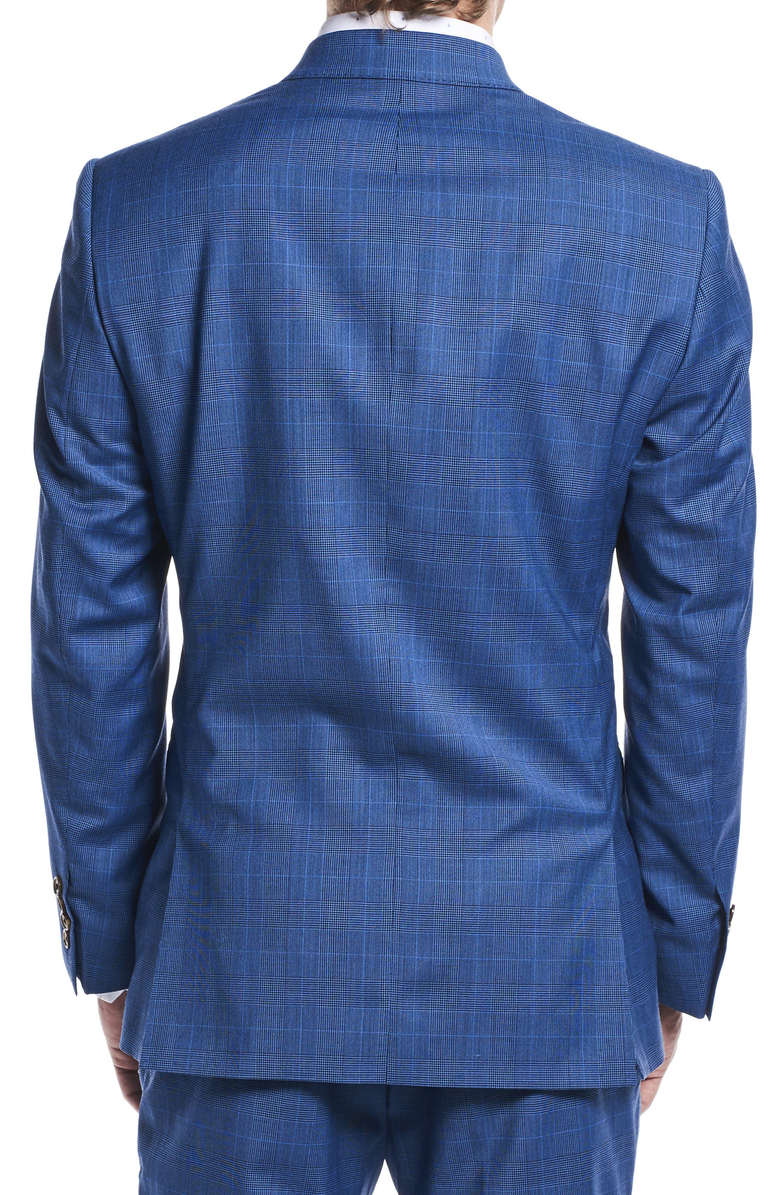 by Ilaria Urbinati Zooey Slim Fit Plaid Wool Suit,                             Alternate thumbnail 2, color,