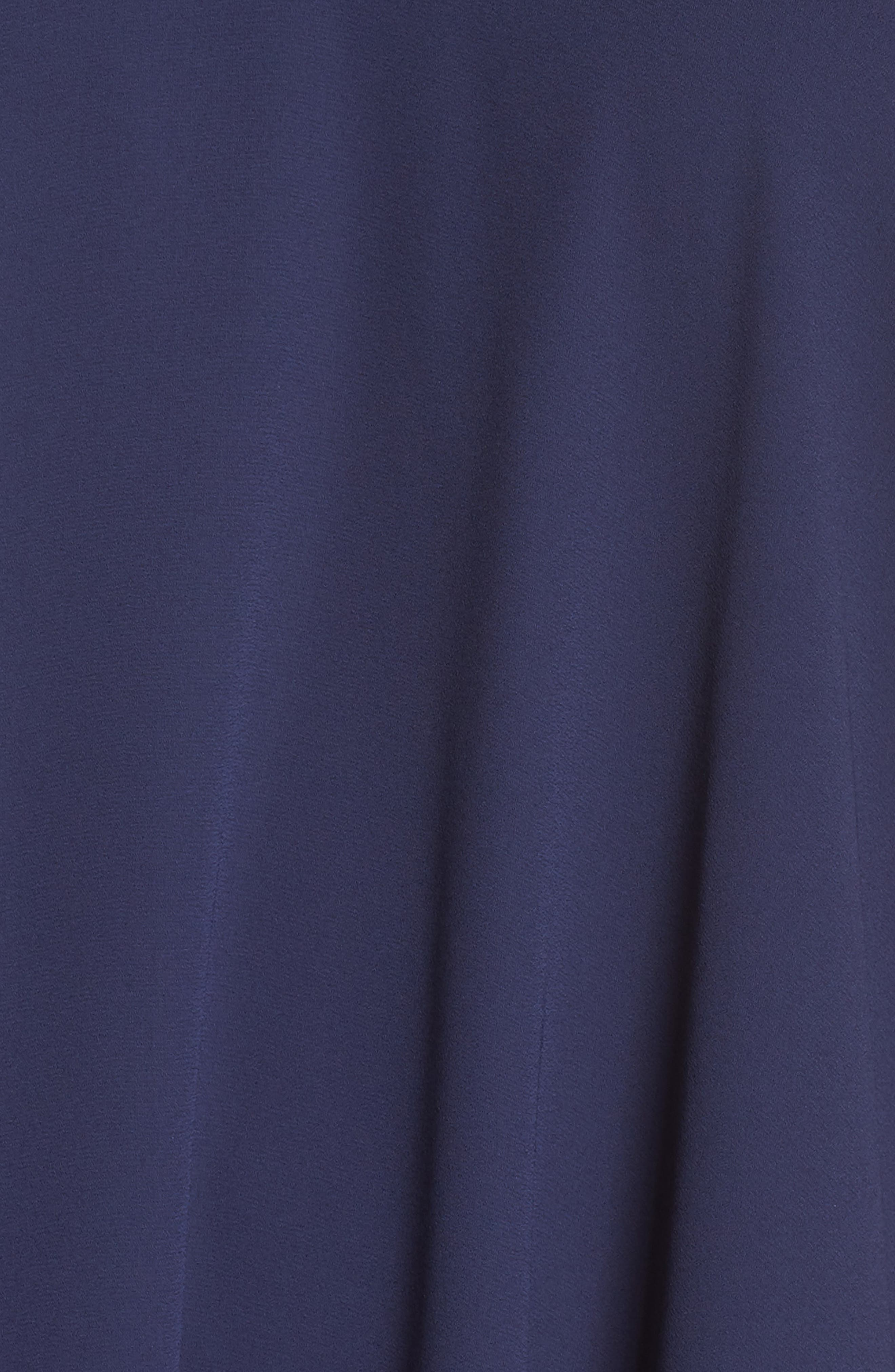 Draped Racerback Georgette Trapeze Dress,                             Alternate thumbnail 6, color,                             412