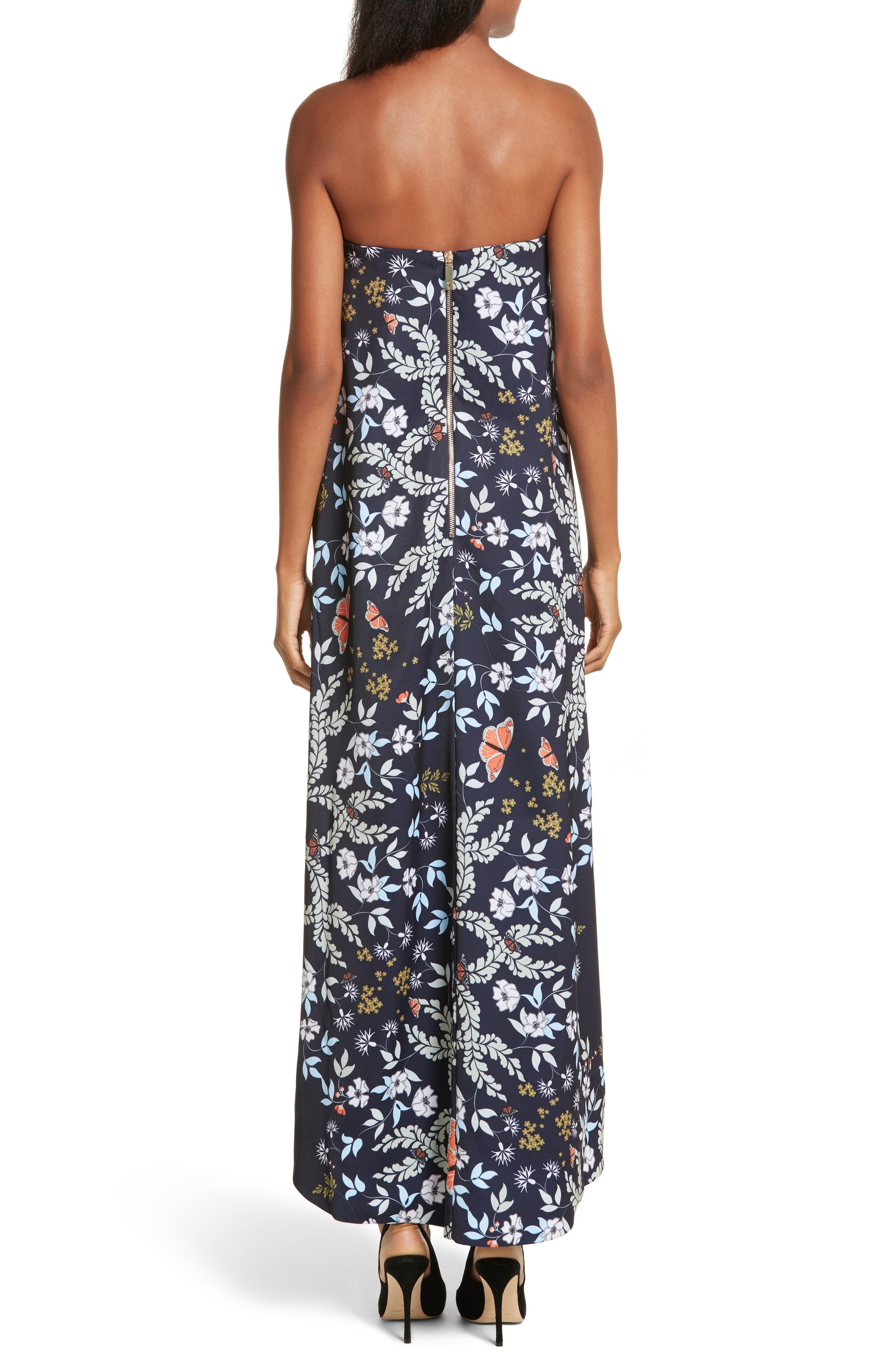 Megadon Kyoto Strapless Maxi Dress,                             Alternate thumbnail 2, color,                             424