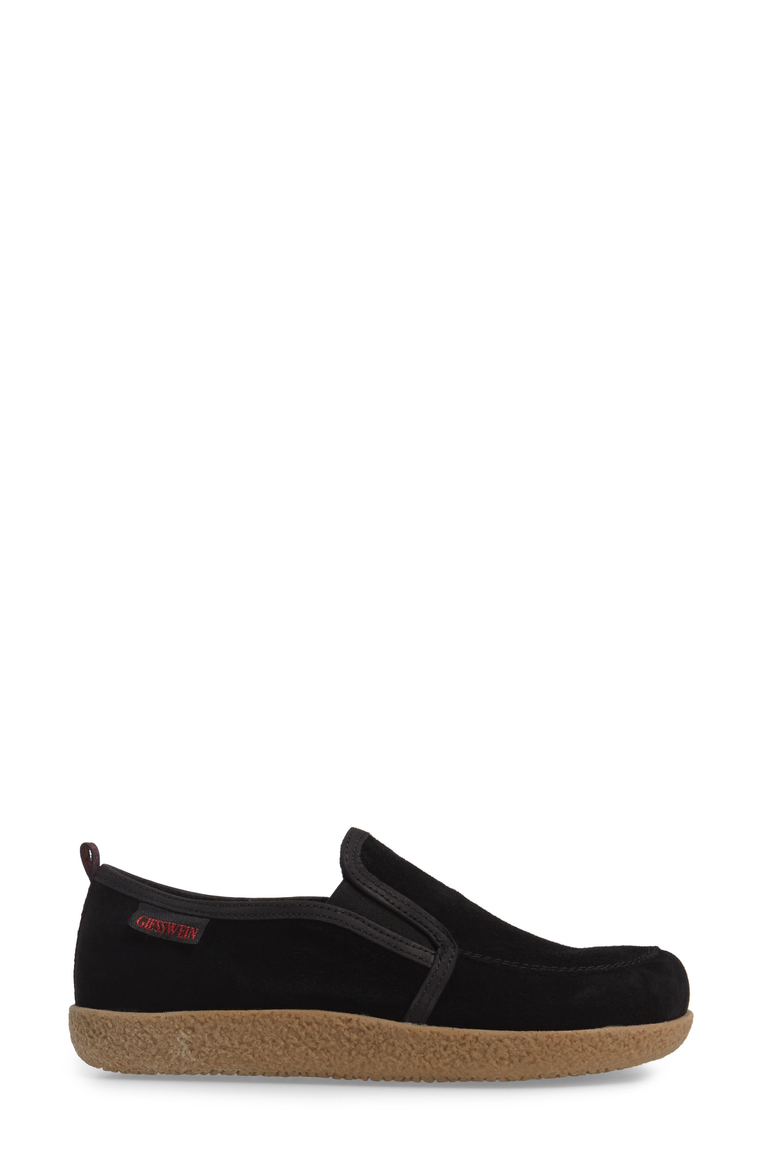 Alpen Loafer,                             Alternate thumbnail 3, color,                             BLACK WOOL