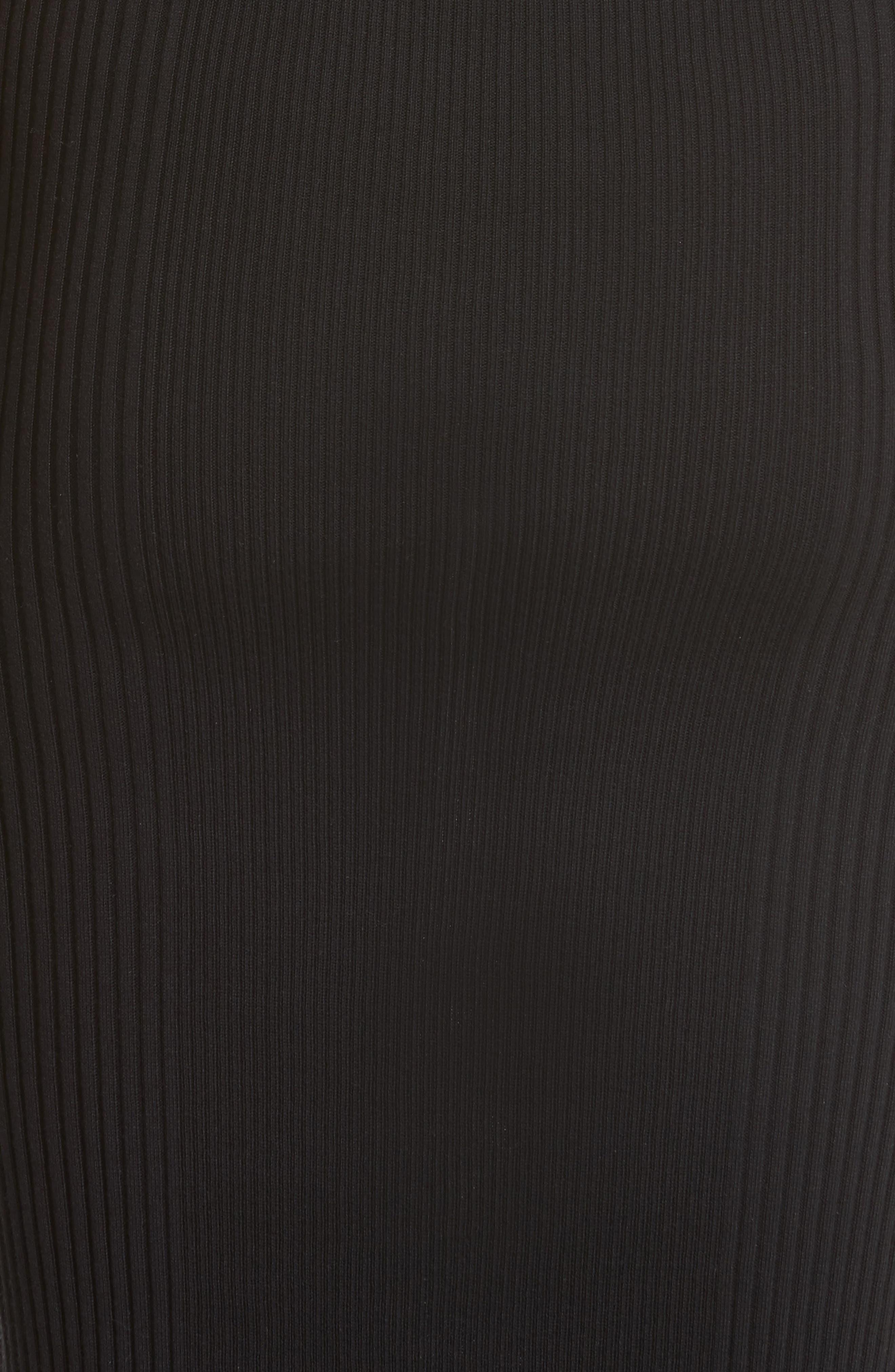 Knit Cold Shoulder Dress,                             Alternate thumbnail 5, color,                             001