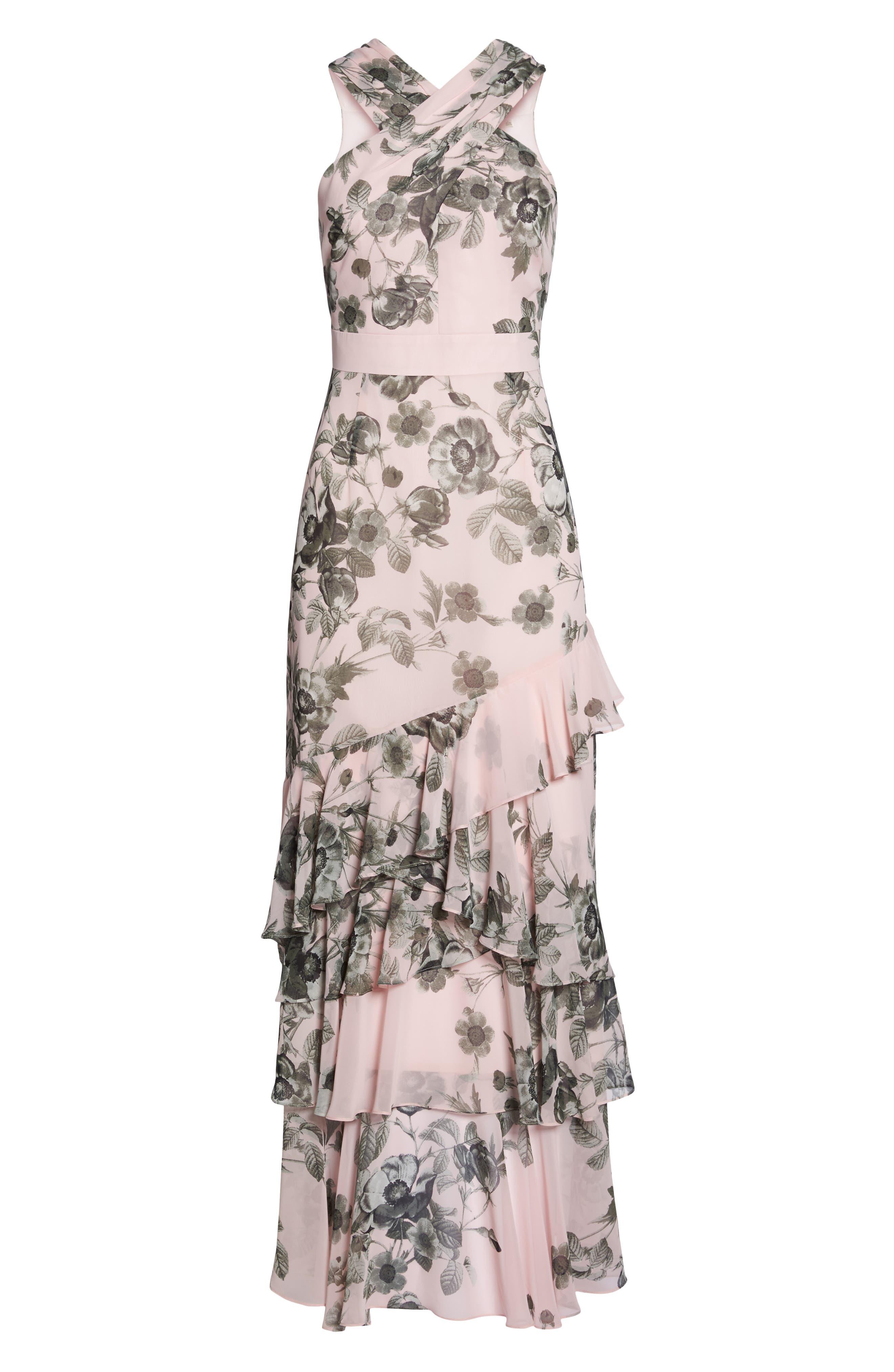Halter Maxi Dress,                             Alternate thumbnail 6, color,                             660