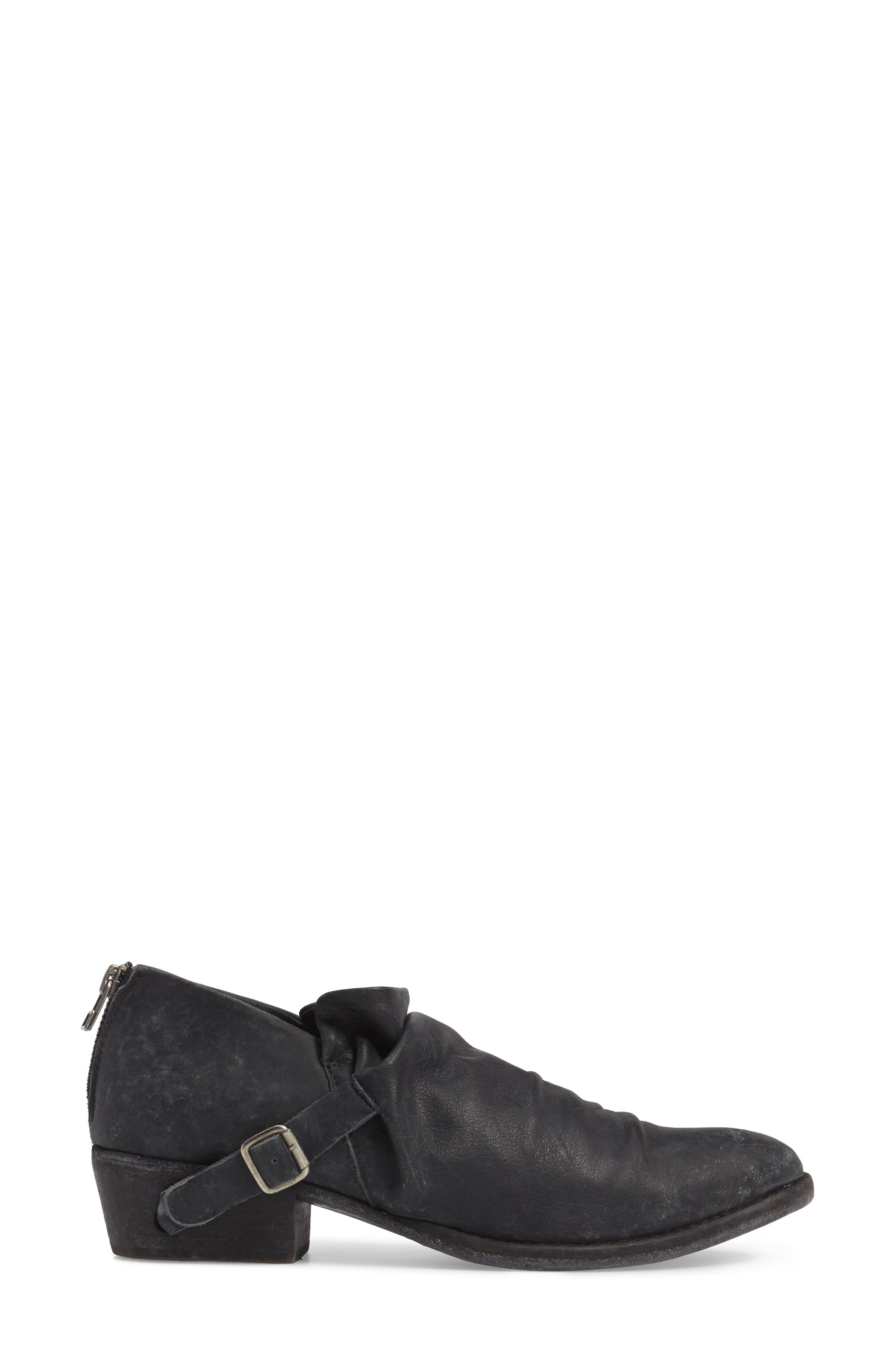 Wills Ruched Bootie,                             Alternate thumbnail 3, color,                             001