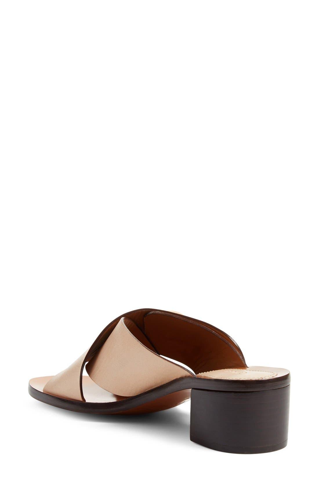Block Heel Slide Sandal,                             Alternate thumbnail 4, color,