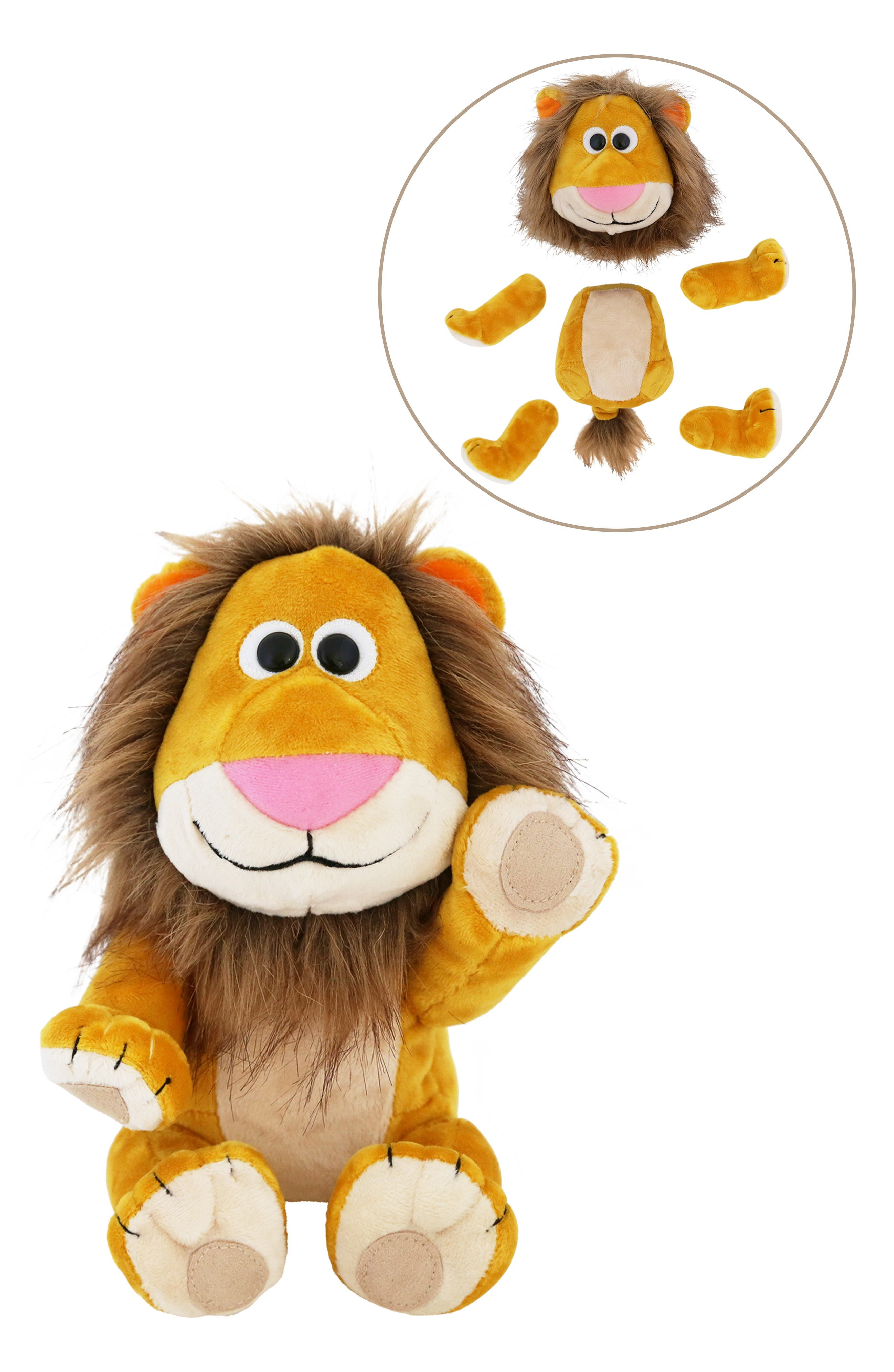 Animoodles Brady Lion Magnetic Stuffed Animal