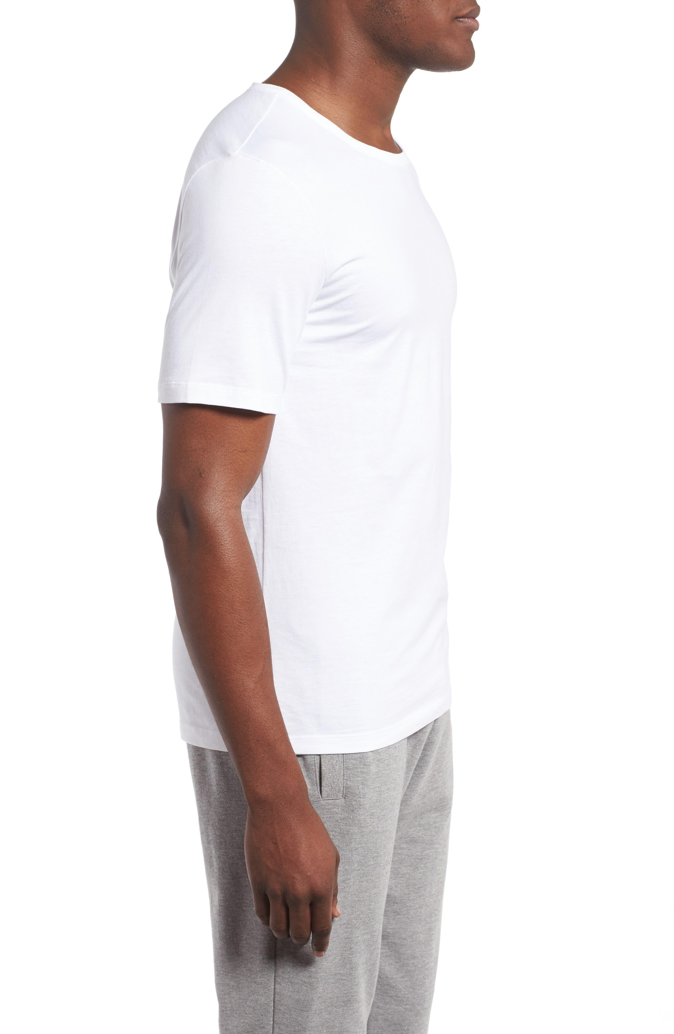 3-Pack Crewneck Cotton T-Shirt,                             Alternate thumbnail 4, color,                             WHITE