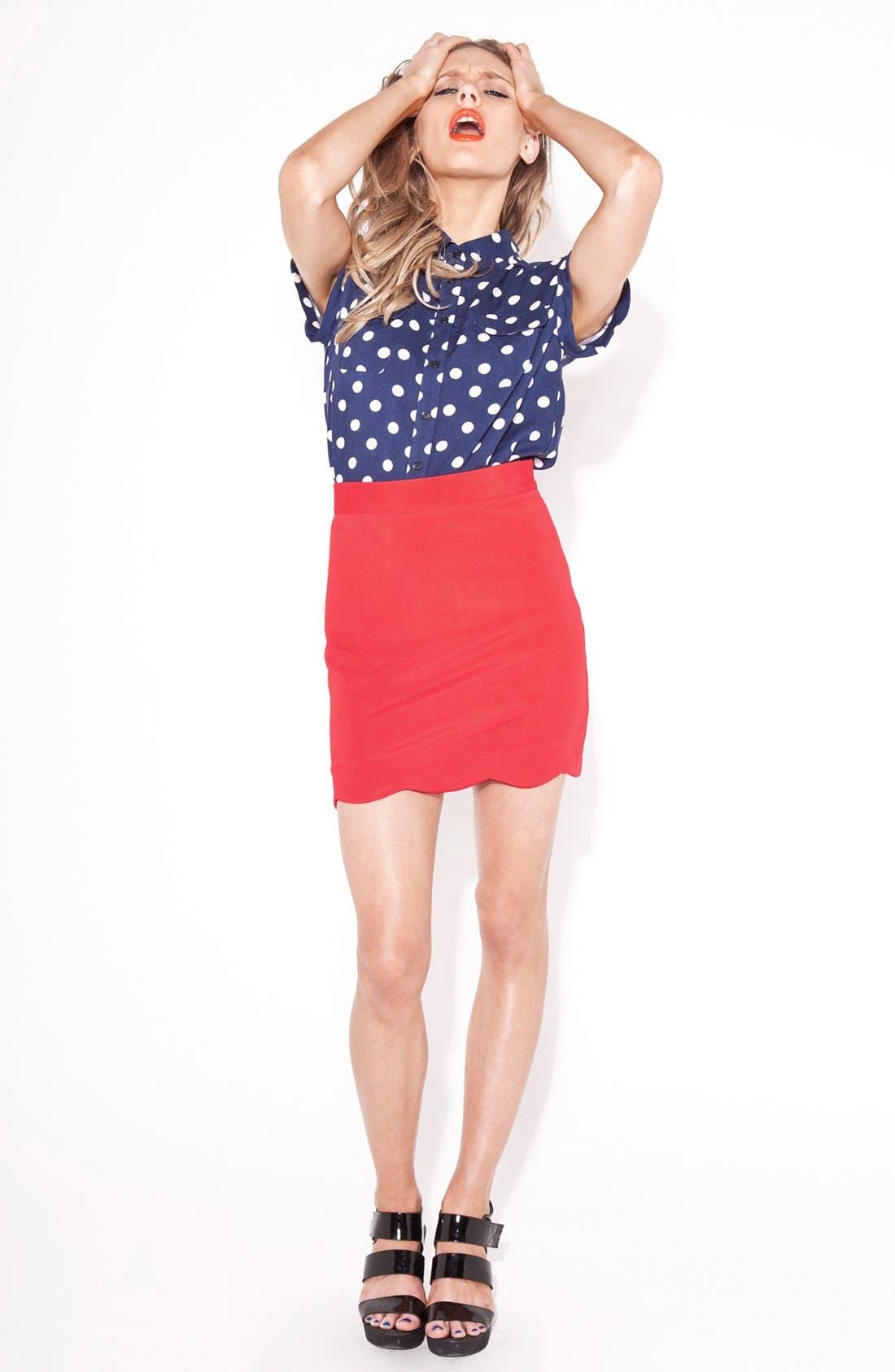 'Roxana' Miniskirt,                             Alternate thumbnail 2, color,                             600