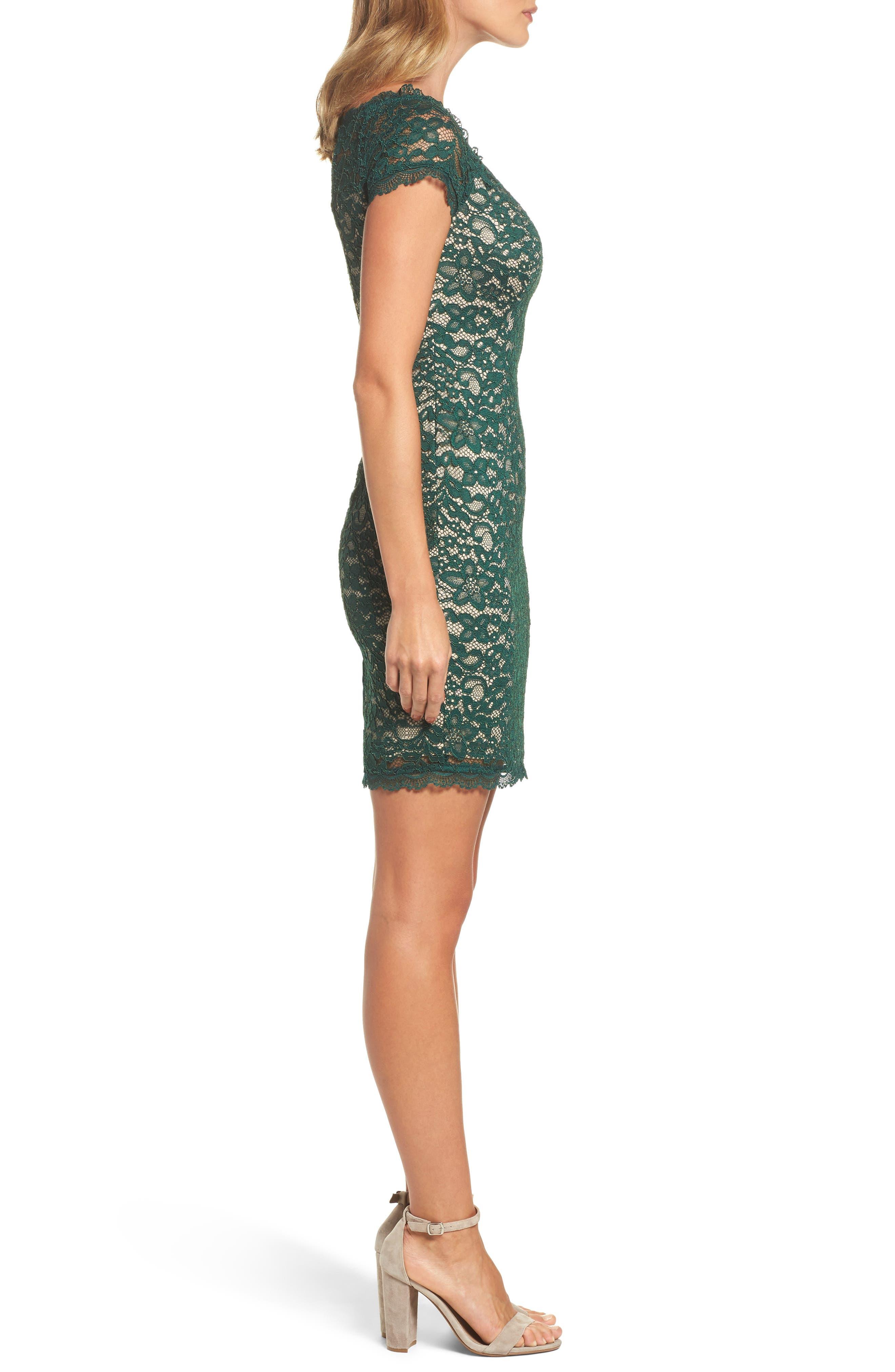 Aubrey Lace Sheath Dress,                             Alternate thumbnail 3, color,                             303