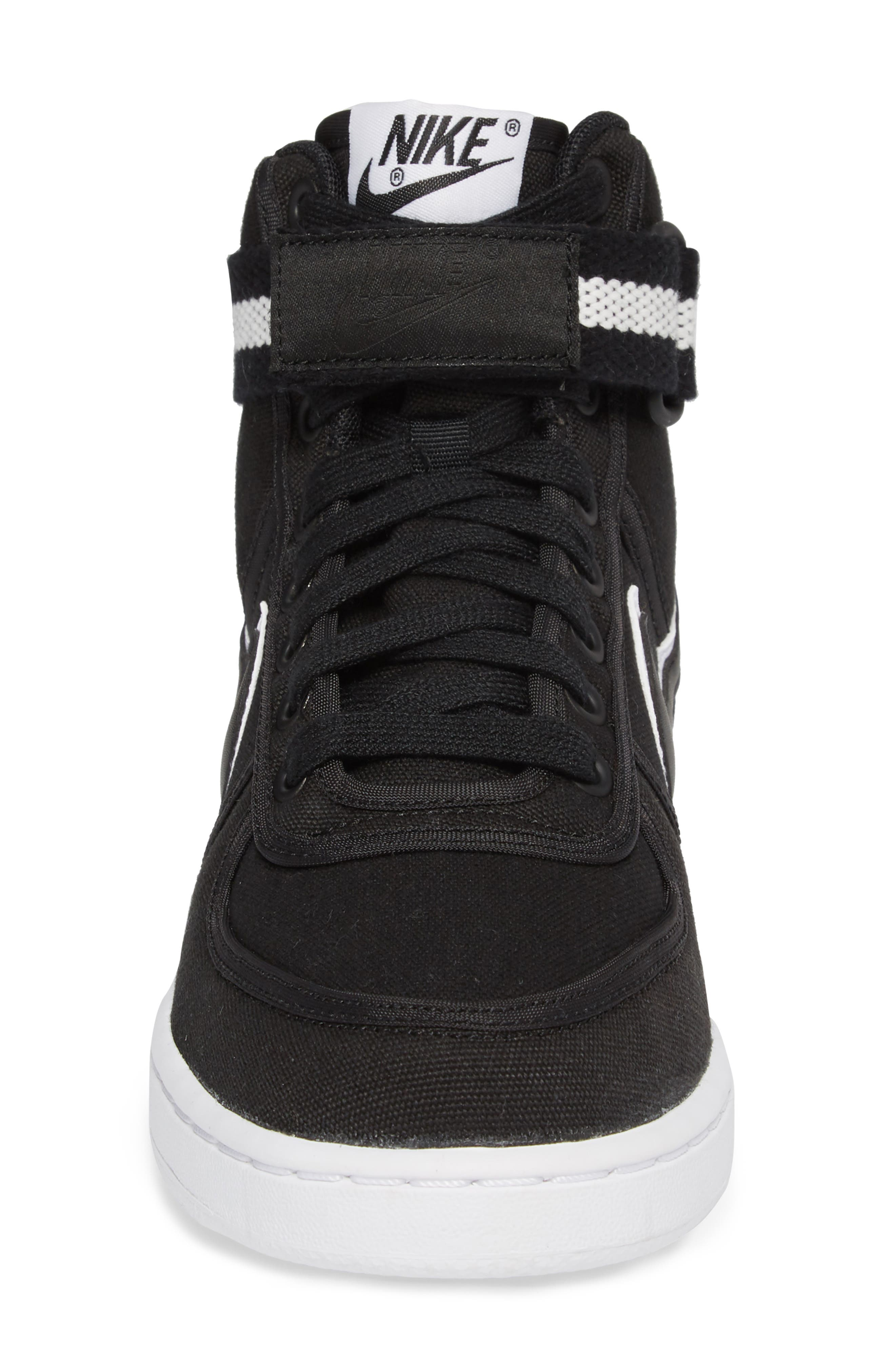 Vandal High Top Sneaker,                             Alternate thumbnail 4, color,                             BLACK/ BLACK-WHITE