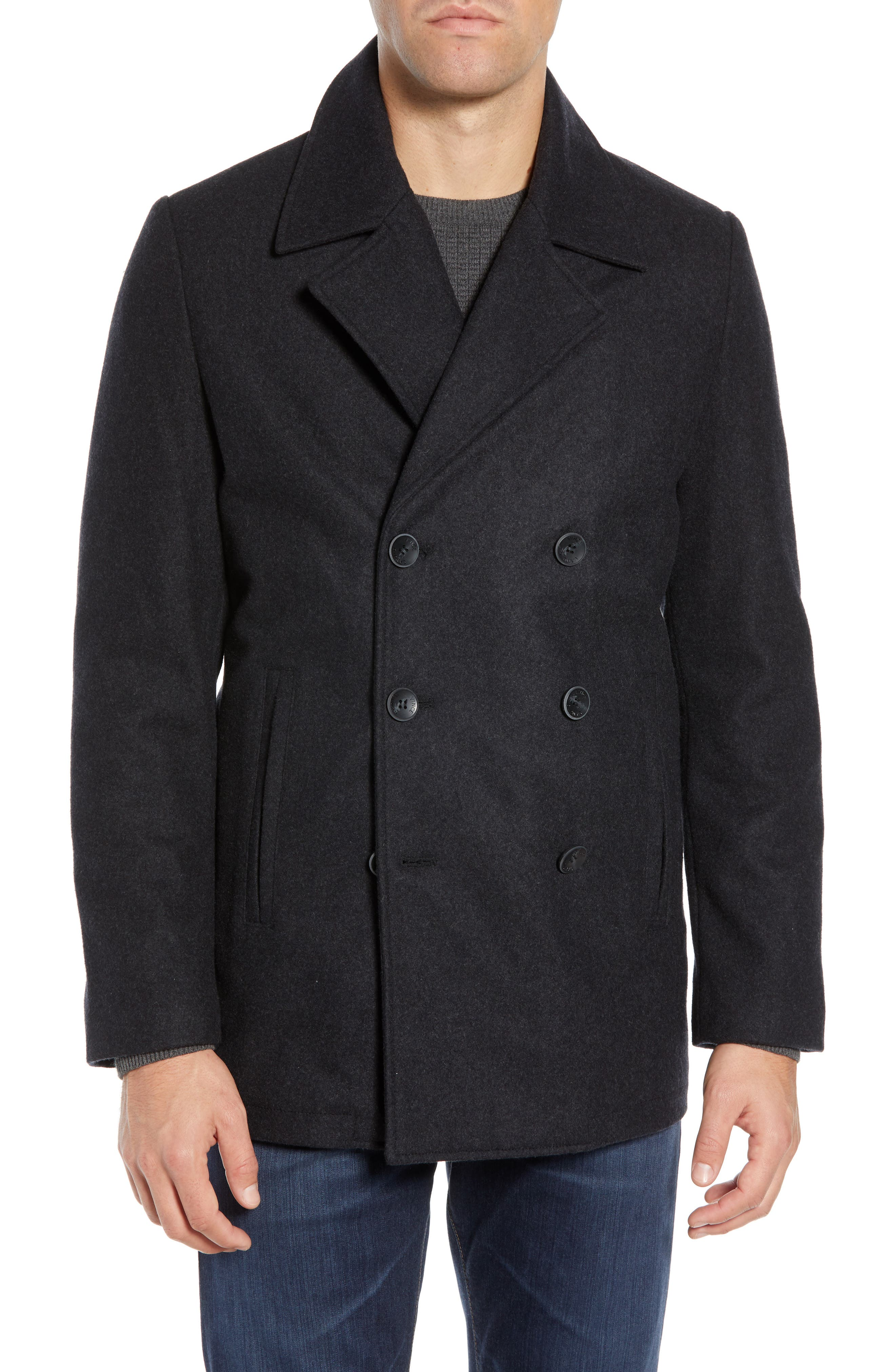 Classic Peacoat,                             Alternate thumbnail 5, color,                             CHARCOAL