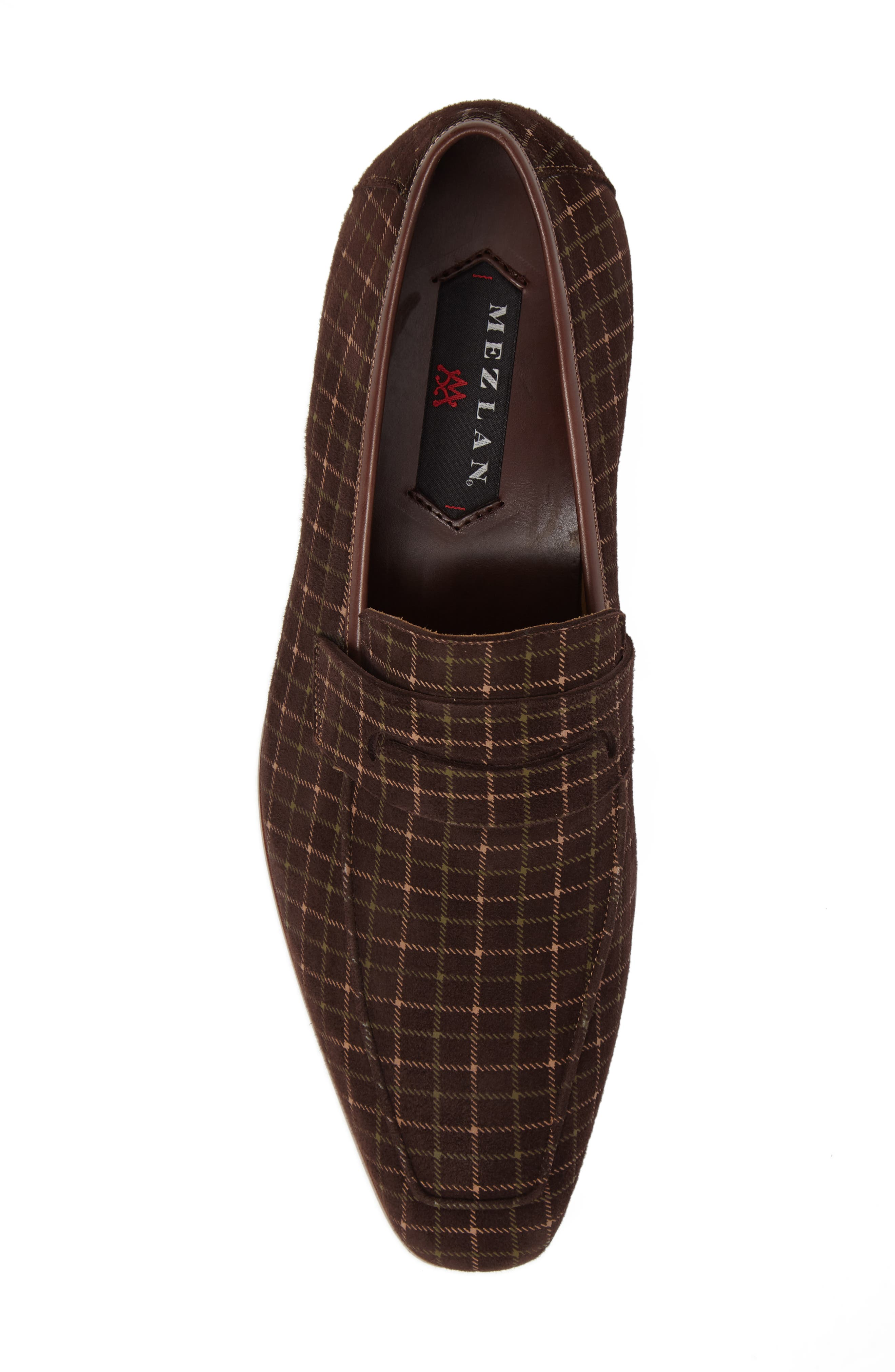 Galen Tattersall Penny Loafer,                             Alternate thumbnail 5, color,                             BROWN SUEDE