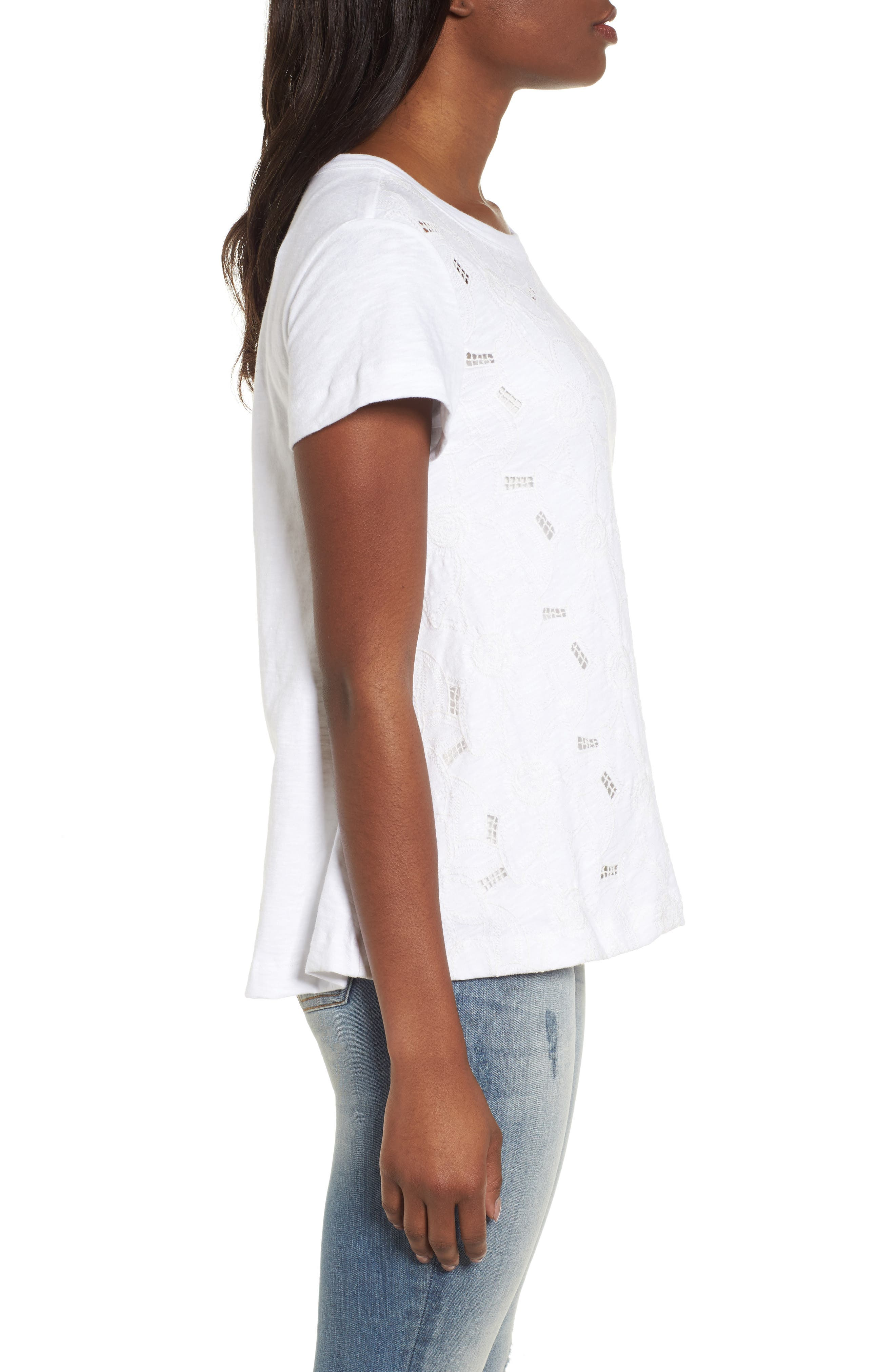 Embroidered Overlay Swing Top,                             Alternate thumbnail 6, color,