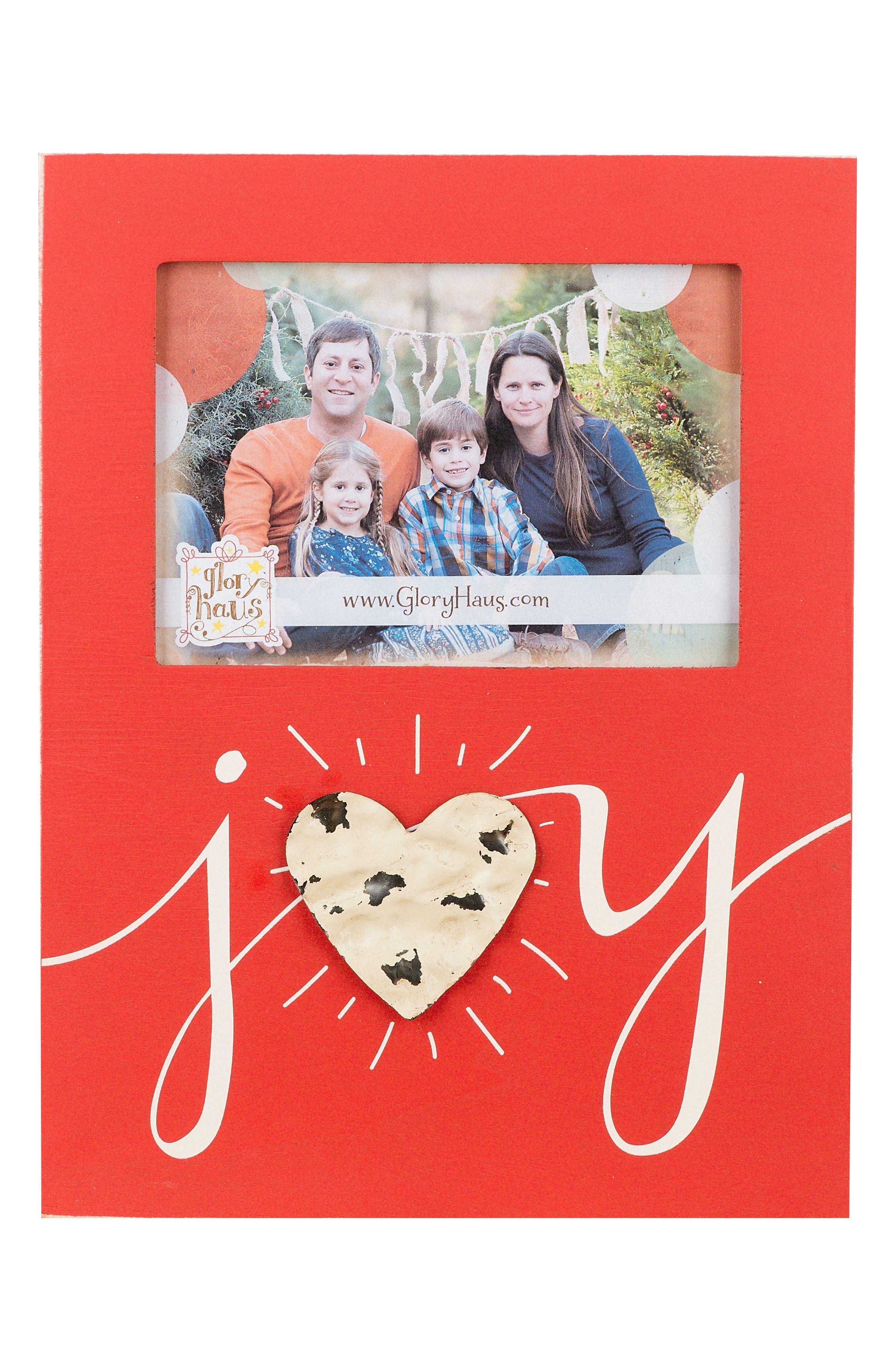 Joy Wooden Picture Frame,                             Main thumbnail 1, color,                             600
