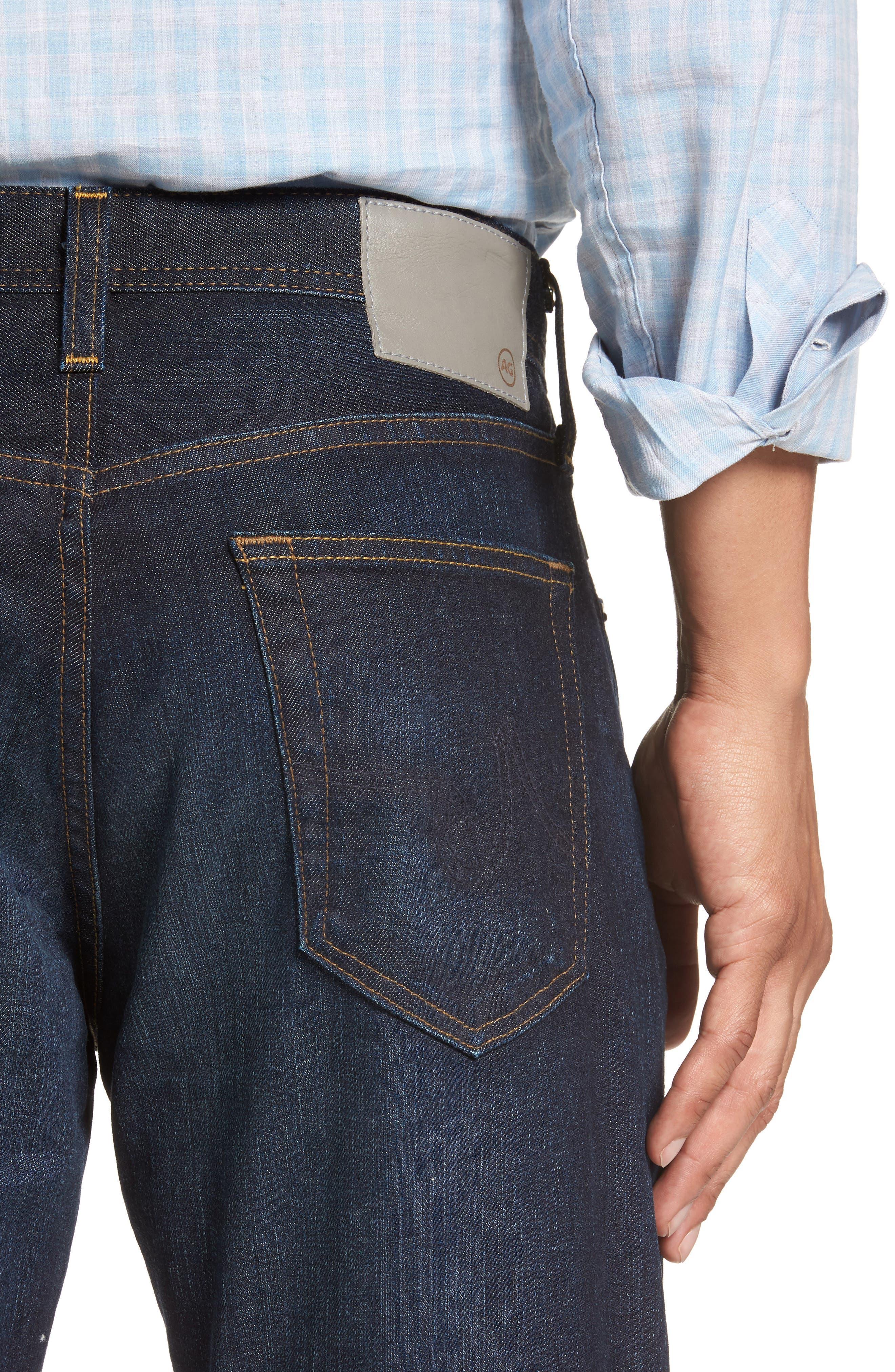 Everett Slim Straight Leg Jeans,                             Alternate thumbnail 4, color,                             5 YEARS CASINO