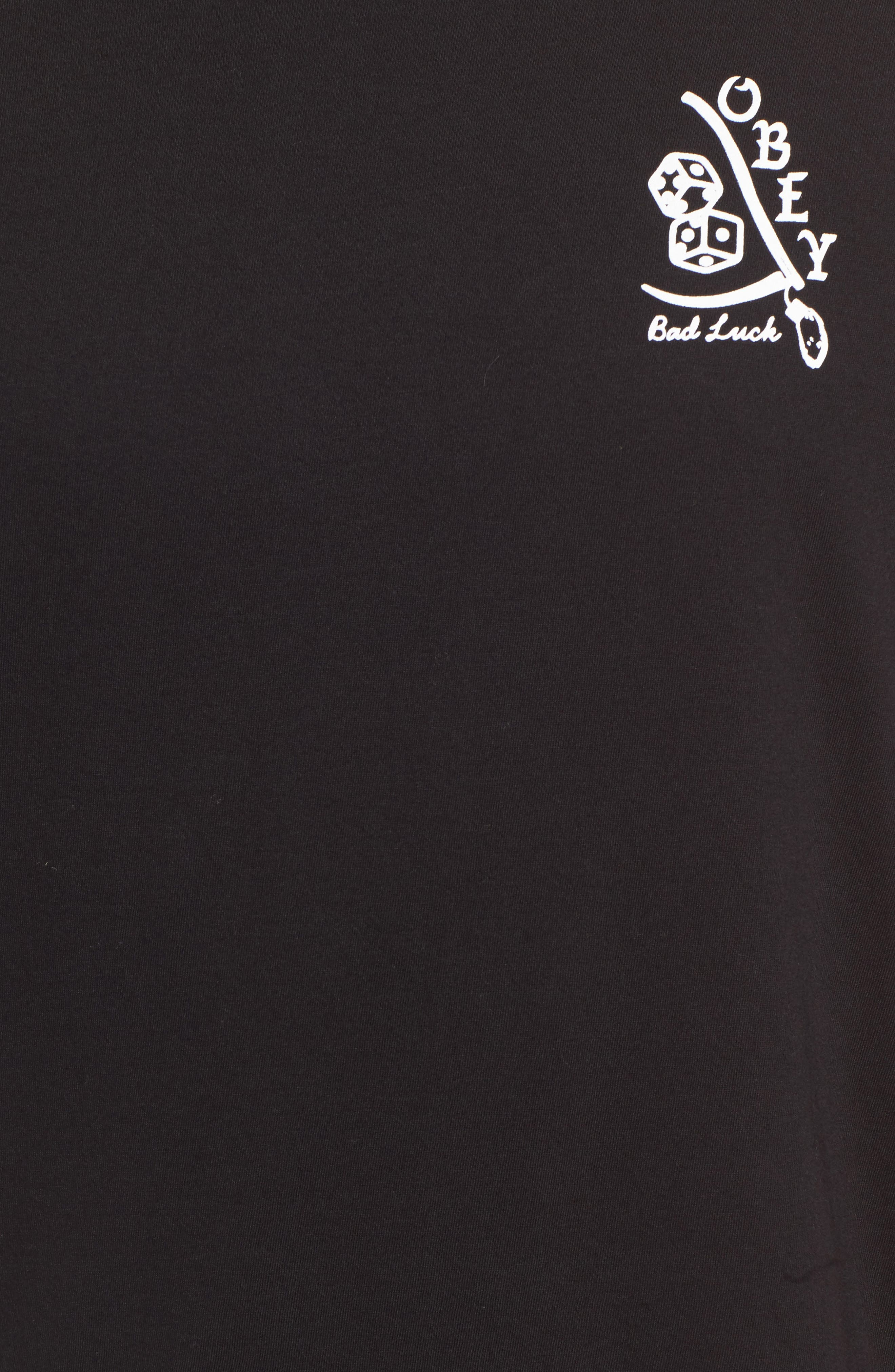 Bad Luck Graphic T-Shirt,                             Alternate thumbnail 5, color,                             001