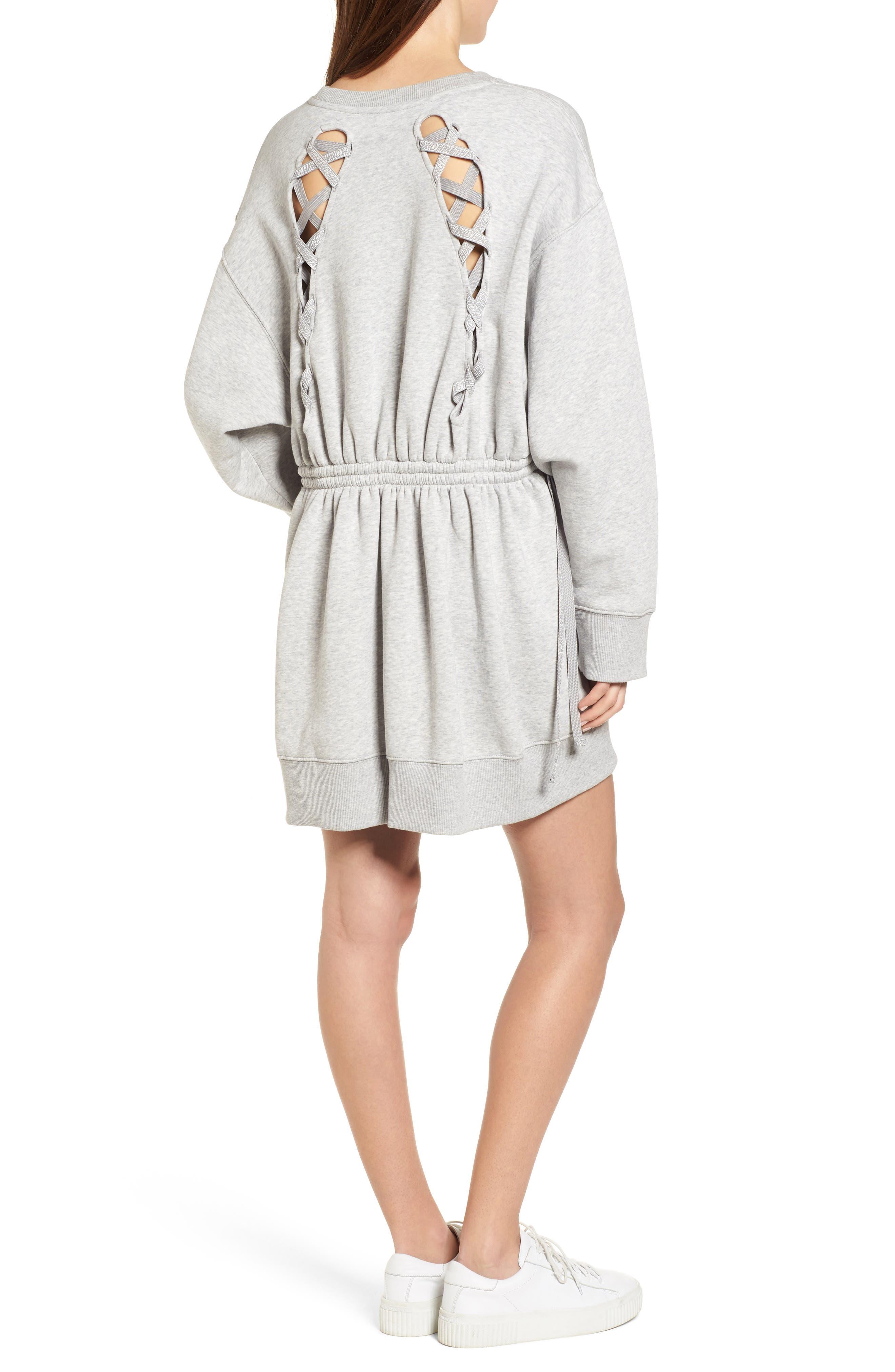 x Gigi Hadid Sweatshirt Dress,                             Alternate thumbnail 2, color,                             020