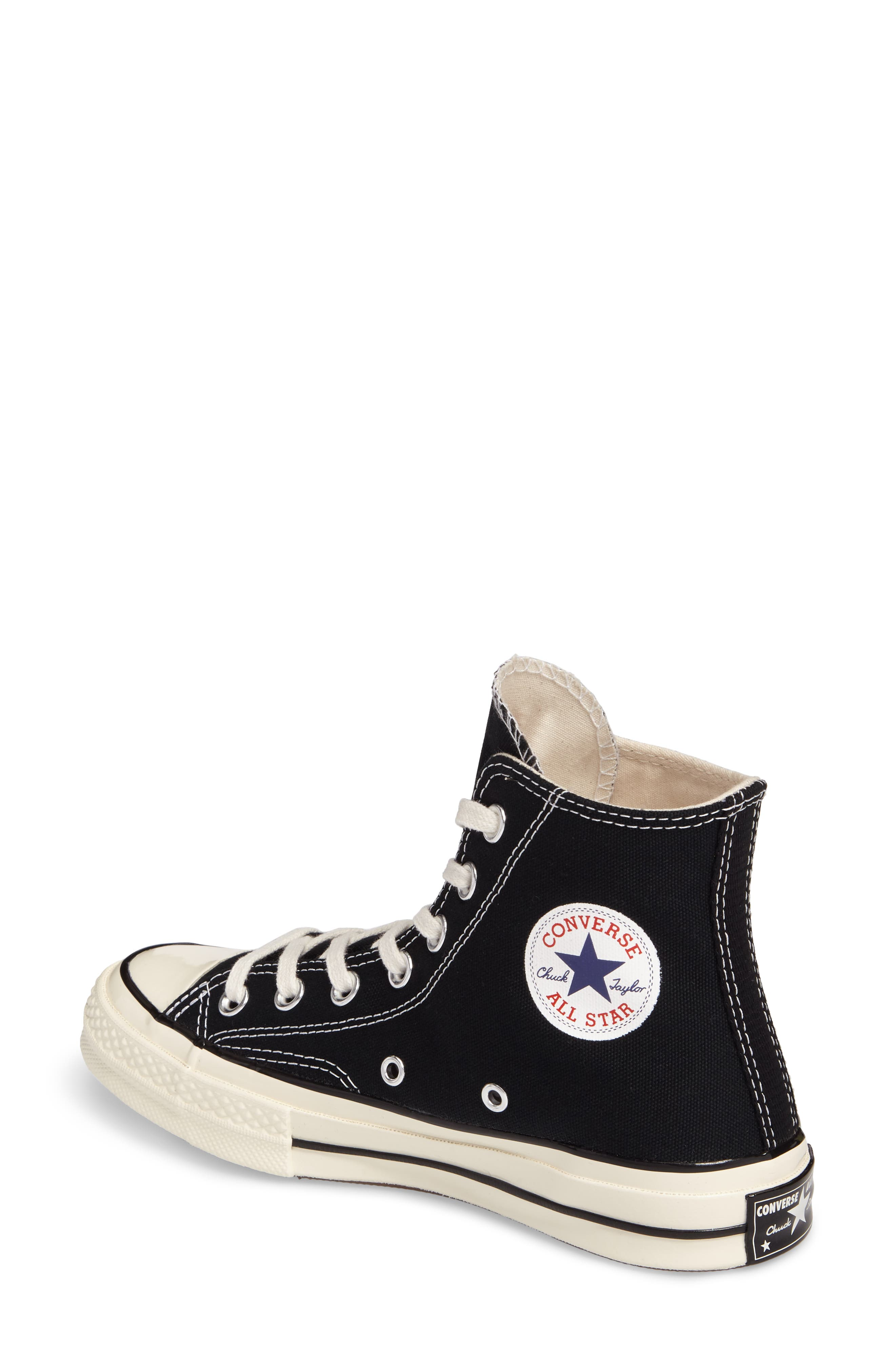 Chuck Taylor<sup>®</sup> All Star<sup>®</sup> '70 High Top Sneaker,                             Alternate thumbnail 2, color,                             001