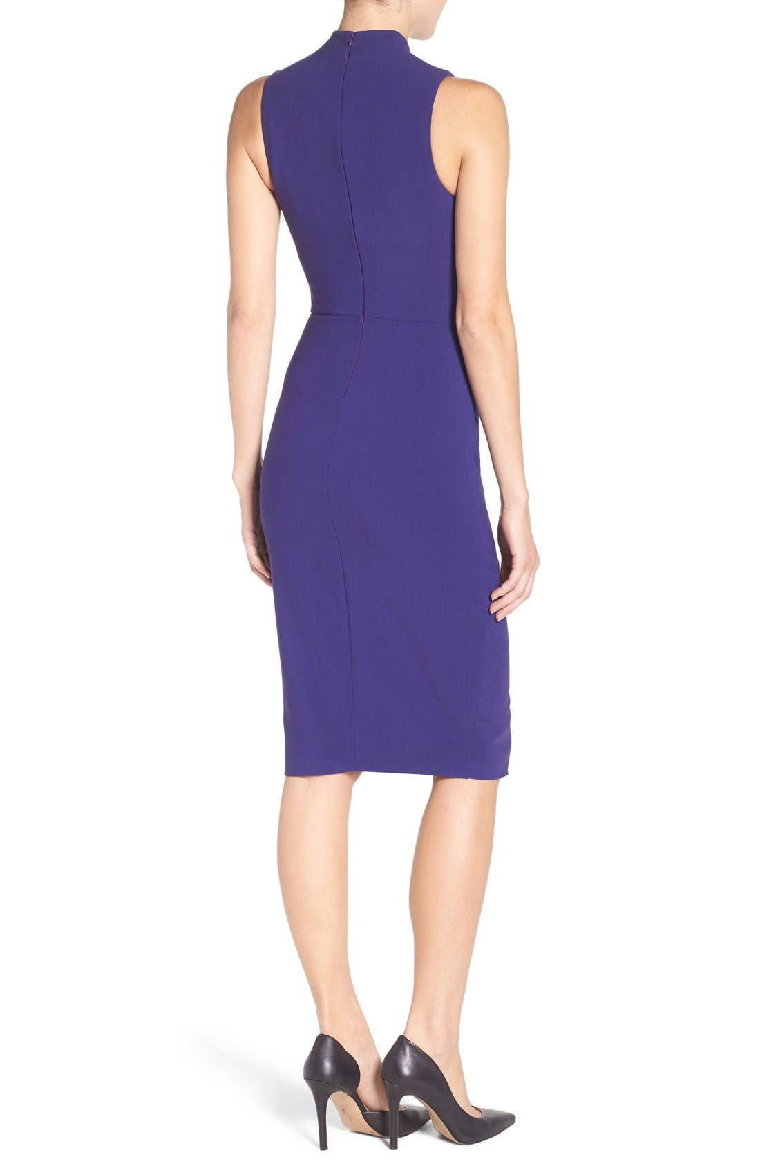 'Caldwell' Mock Neck Sheath Dress,                             Alternate thumbnail 5, color,                             533