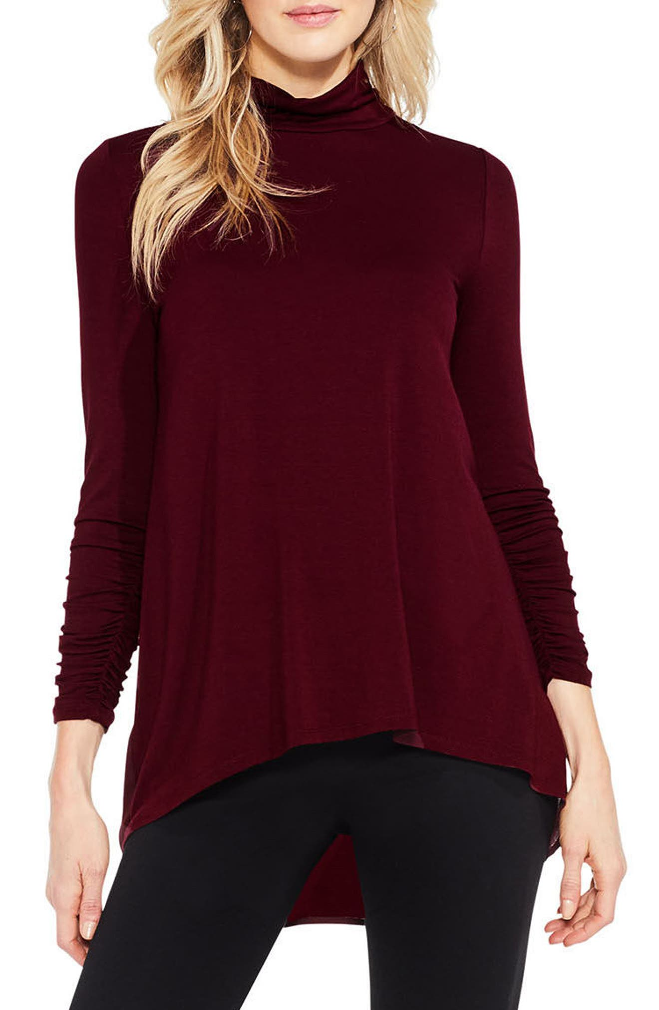 Ruched Sleeve Turtleneck,                             Main thumbnail 1, color,                             930