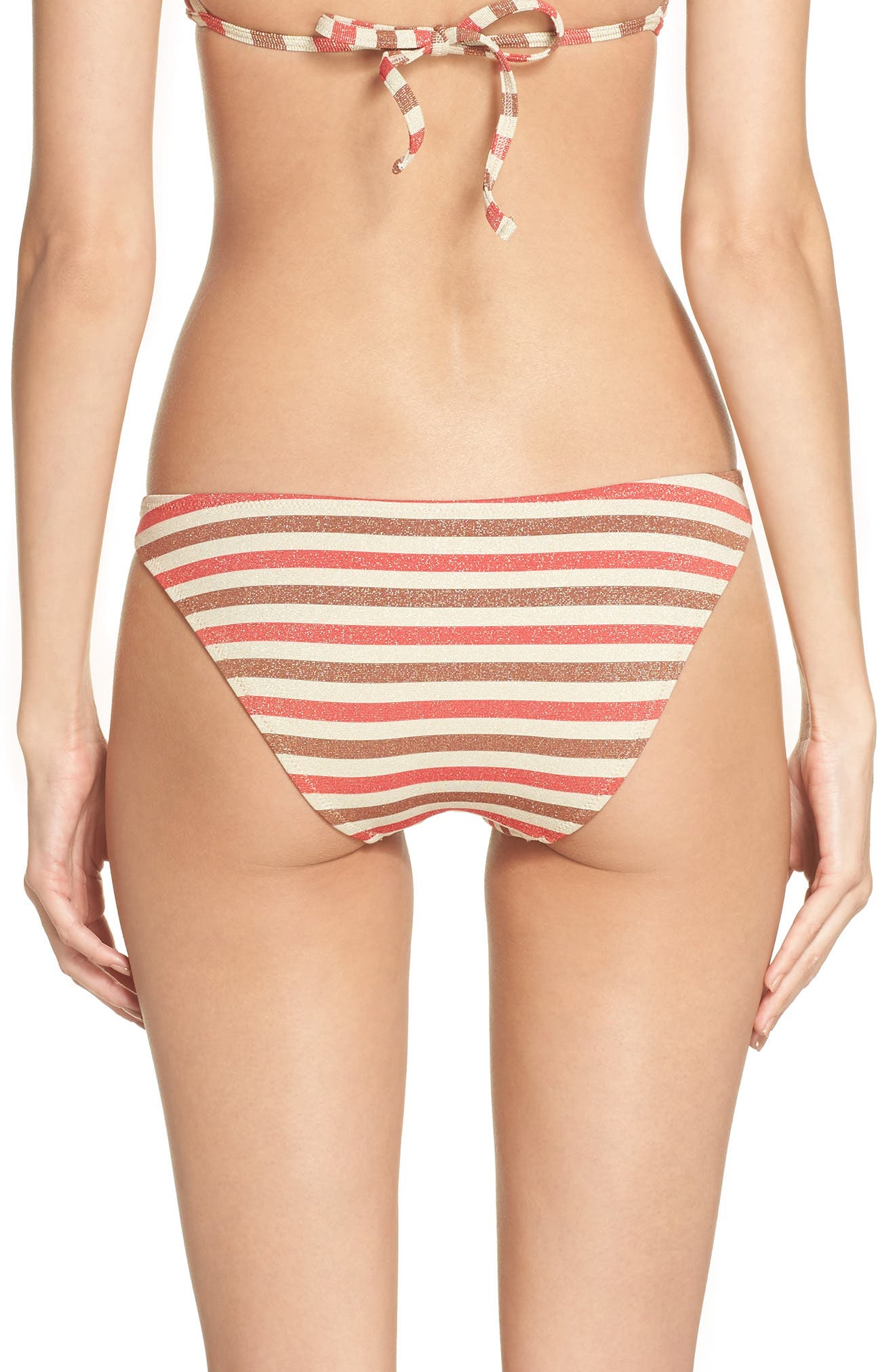 The Wendy Bikini Bottoms,                             Alternate thumbnail 2, color,                             RED/ BROWN MULTI