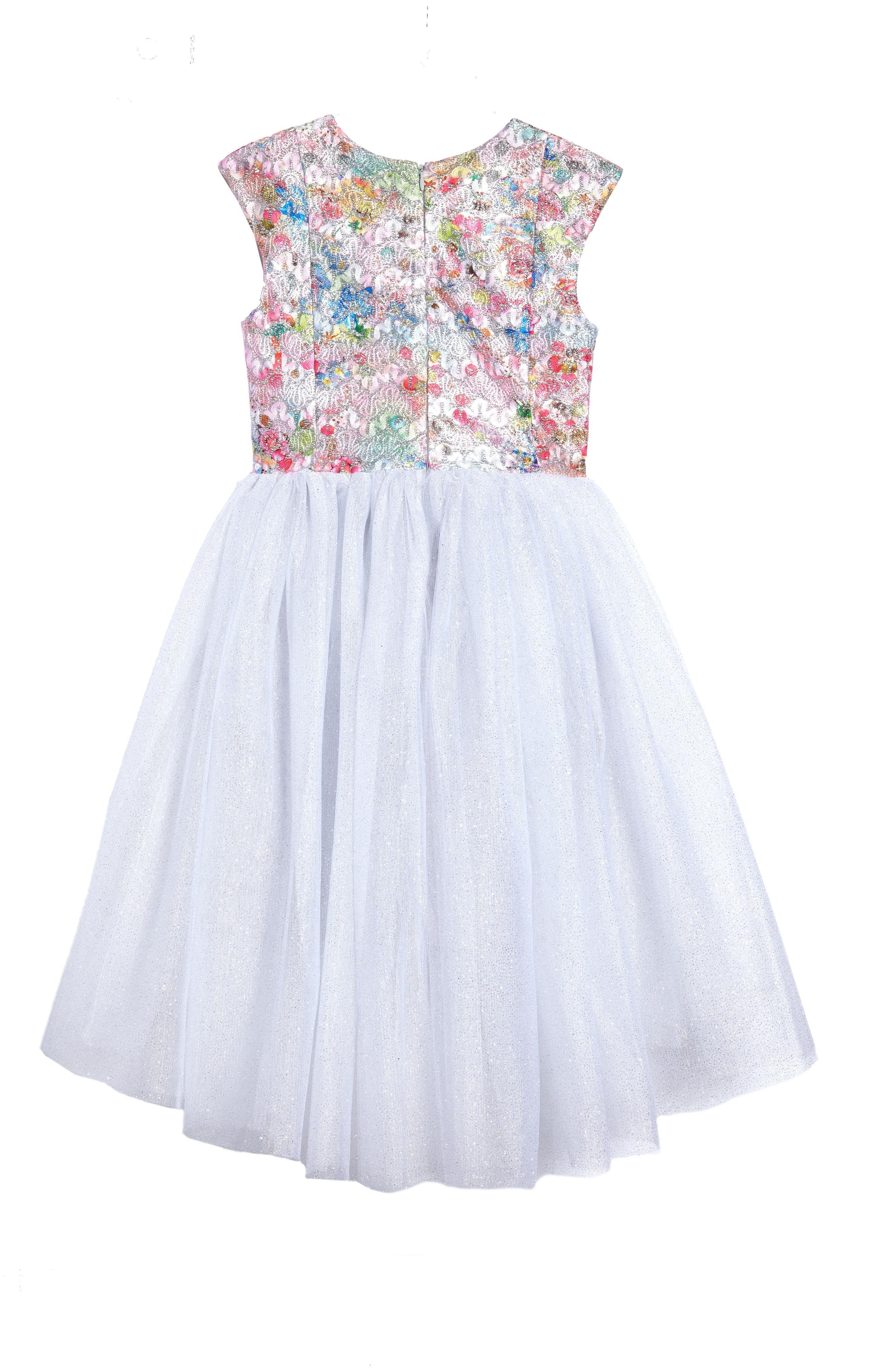 Brocade Bodice Dress,                             Alternate thumbnail 2, color,