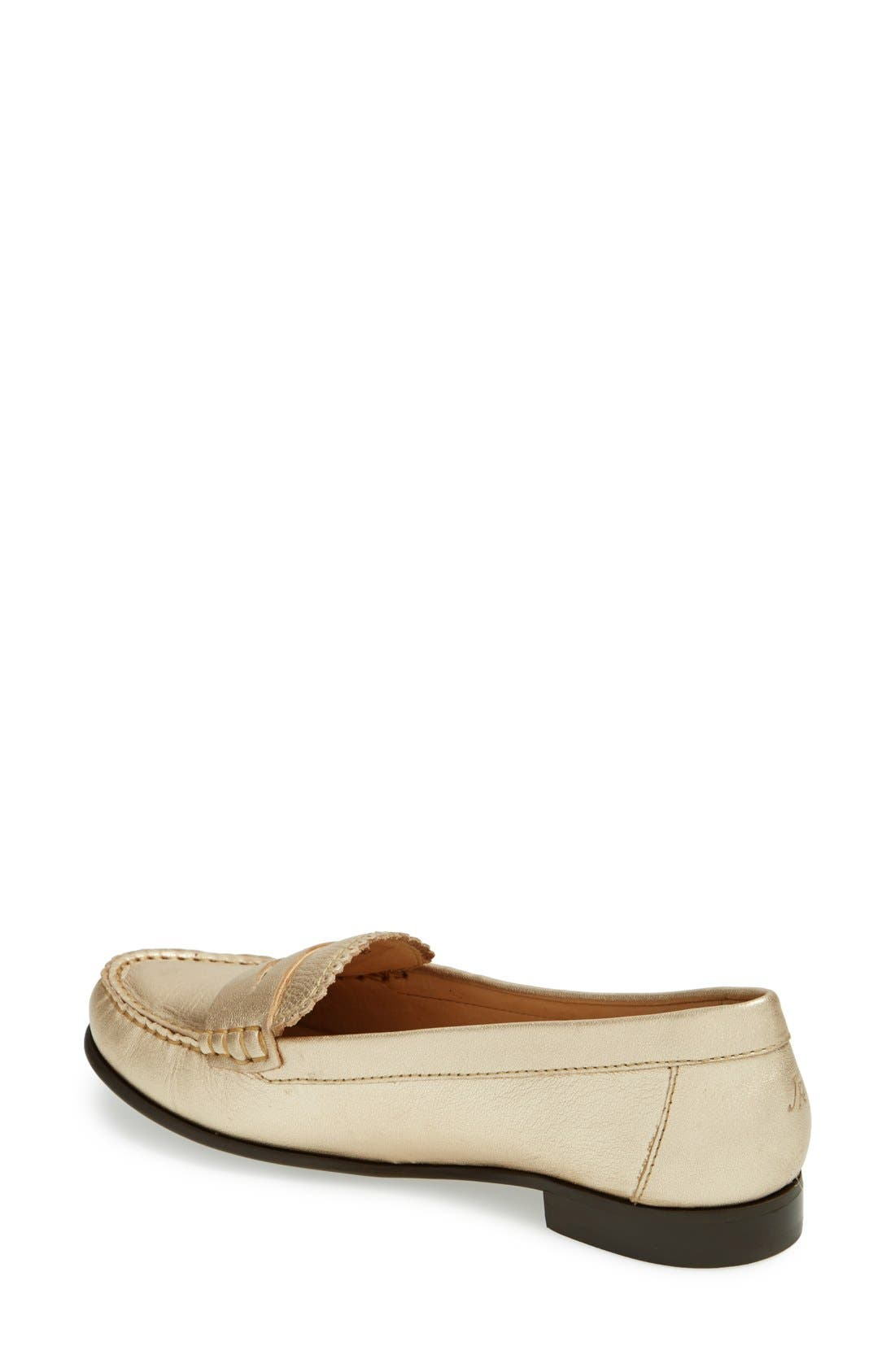 'Quinn' Leather Loafer,                             Alternate thumbnail 8, color,