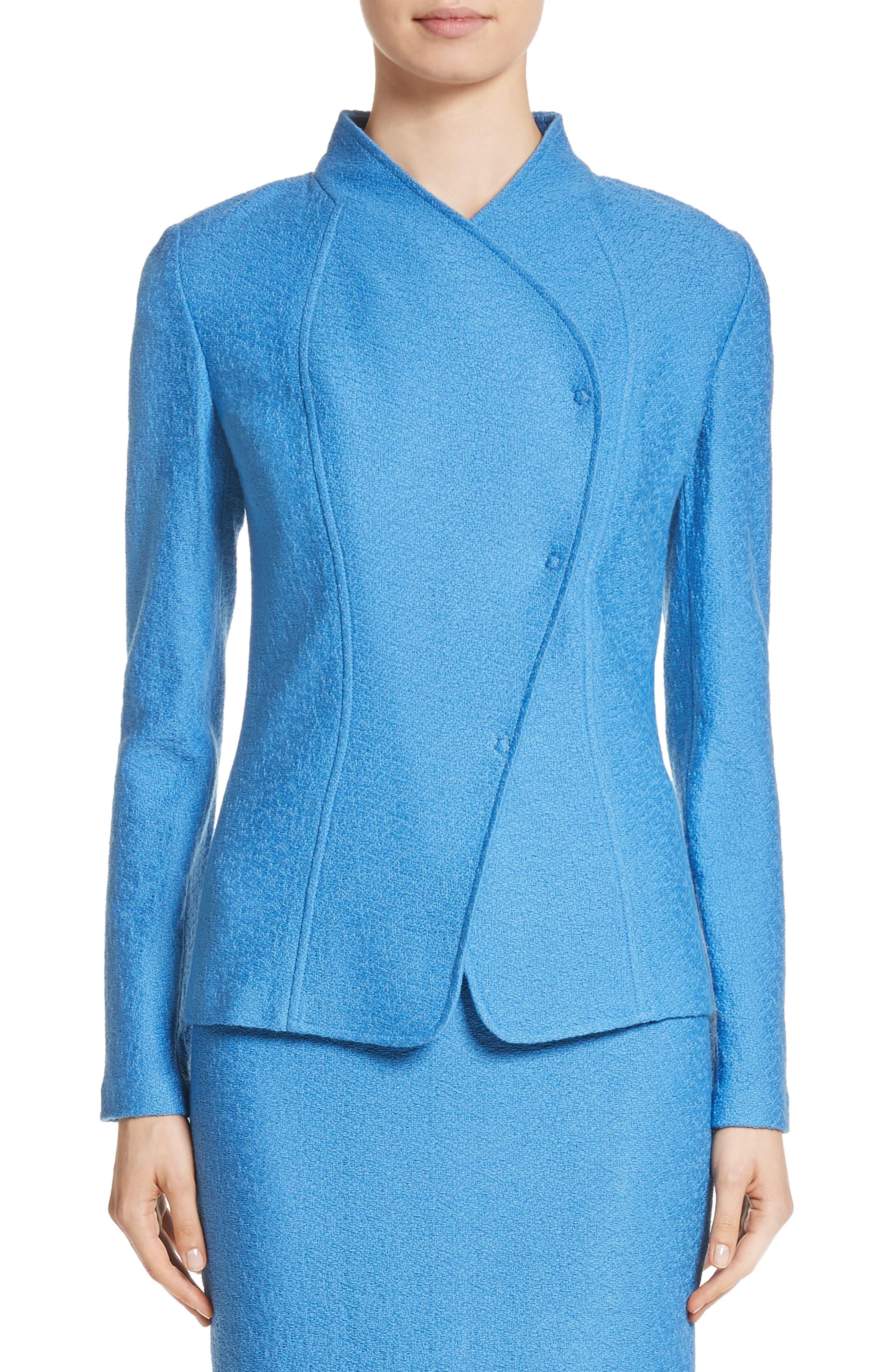 Hannah Knit Stand Collar Jacket,                             Main thumbnail 1, color,                             420