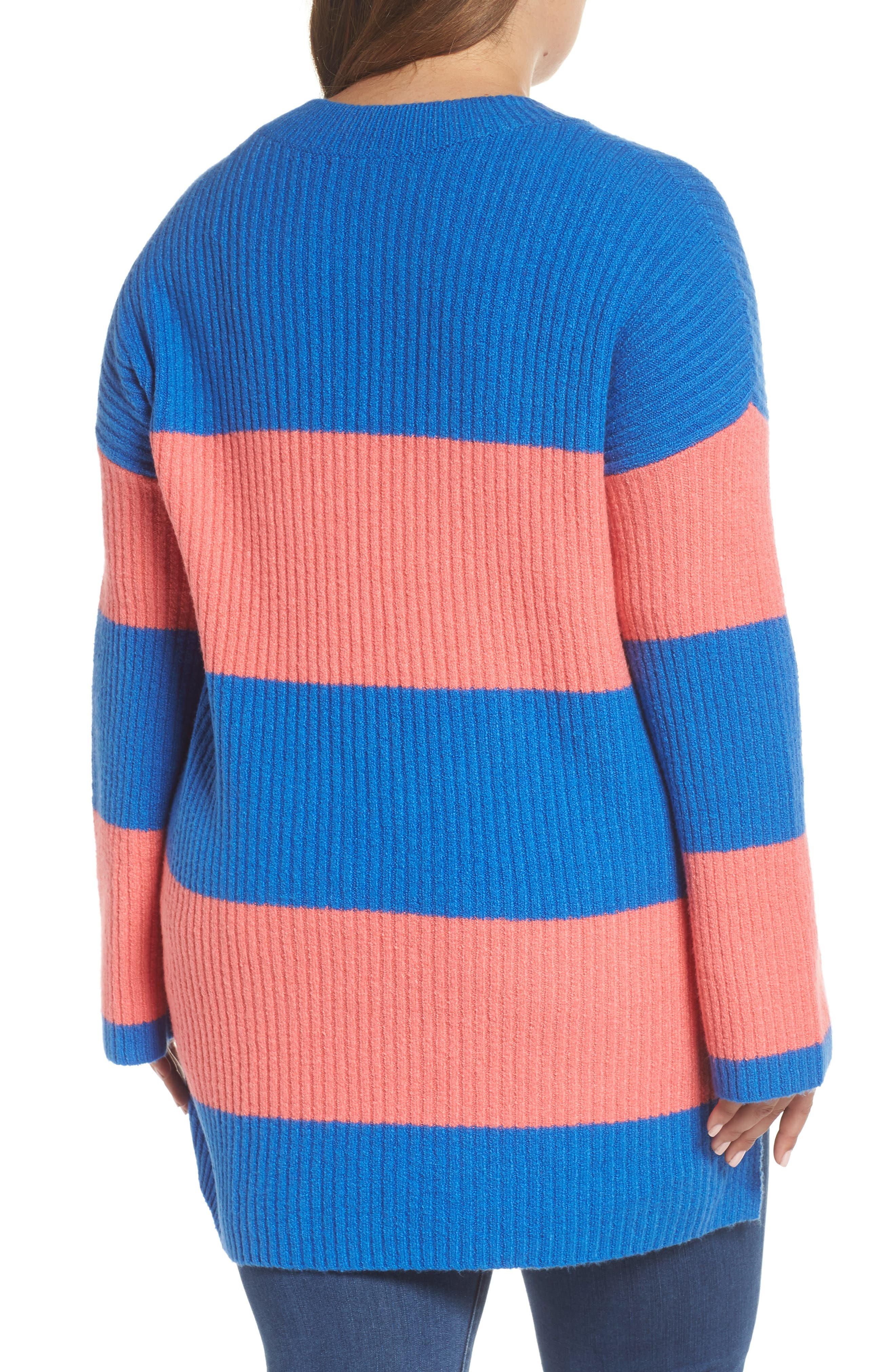 Rugby Stripe Sweater,                             Alternate thumbnail 9, color,                             BLUE BOAT COURTNEY STRIPE