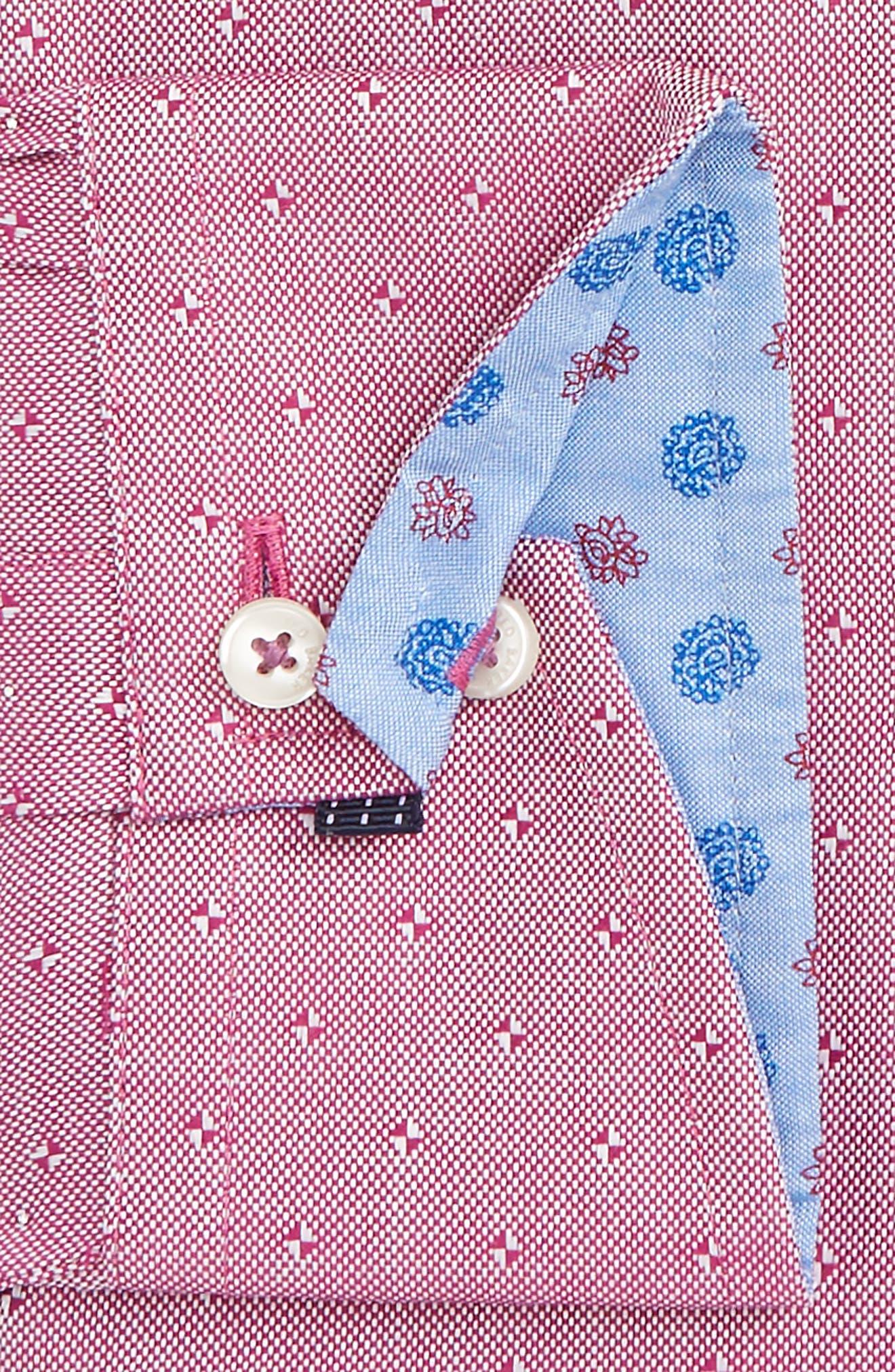 Jamer Trim Fit Dot Dress Shirt,                             Alternate thumbnail 2, color,                             611