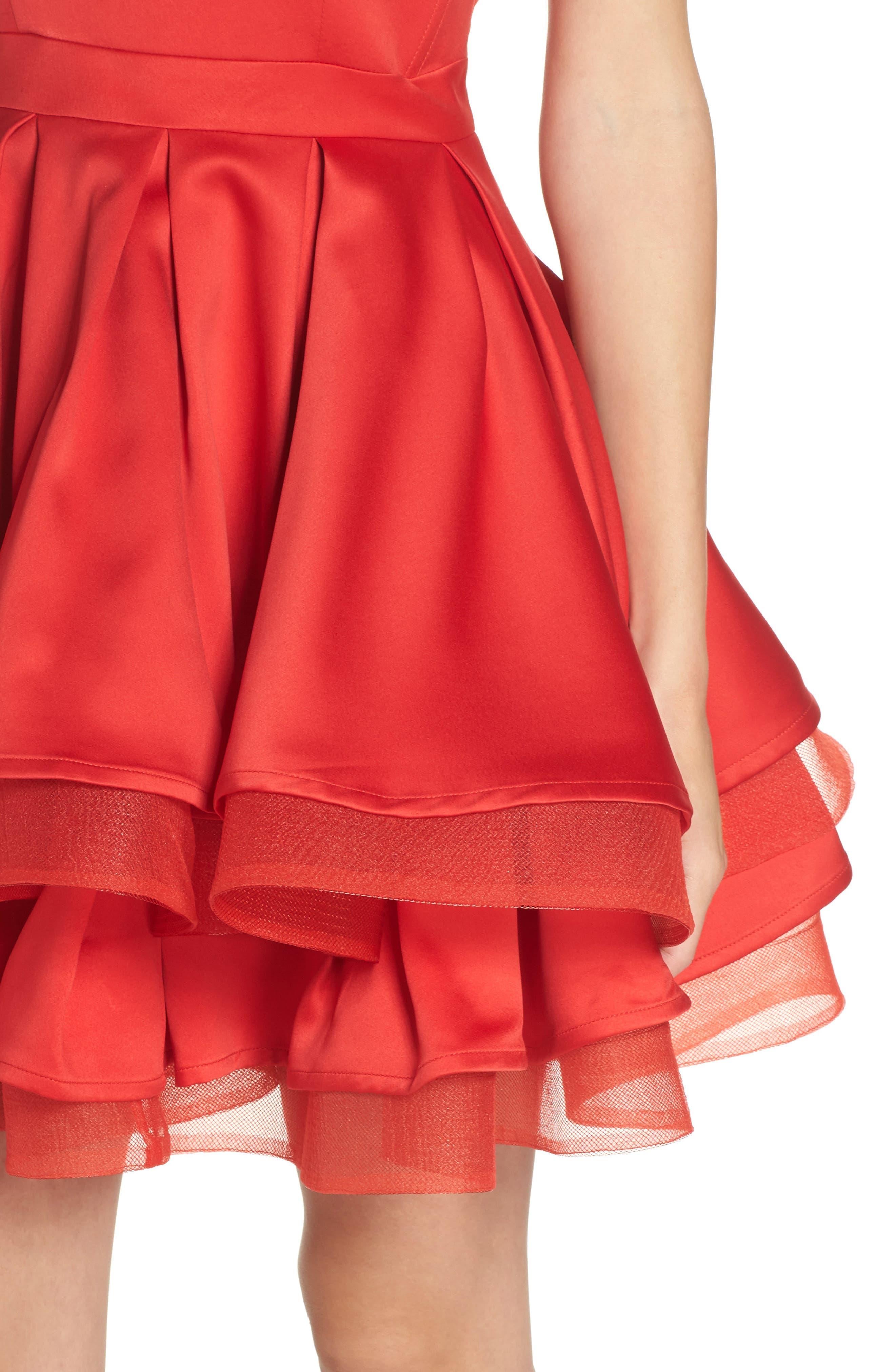 Emmanuel One-Shoulder Party Dress,                             Alternate thumbnail 4, color,                             600