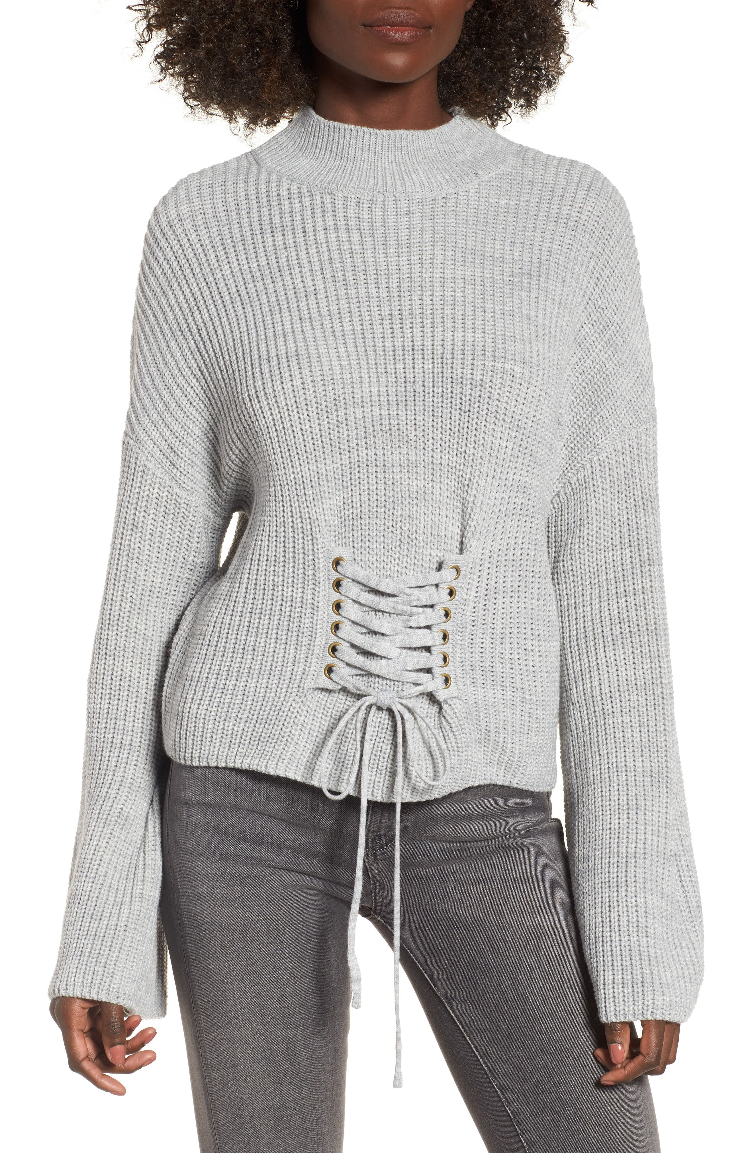 Corset Sweater,                             Main thumbnail 1, color,                             020