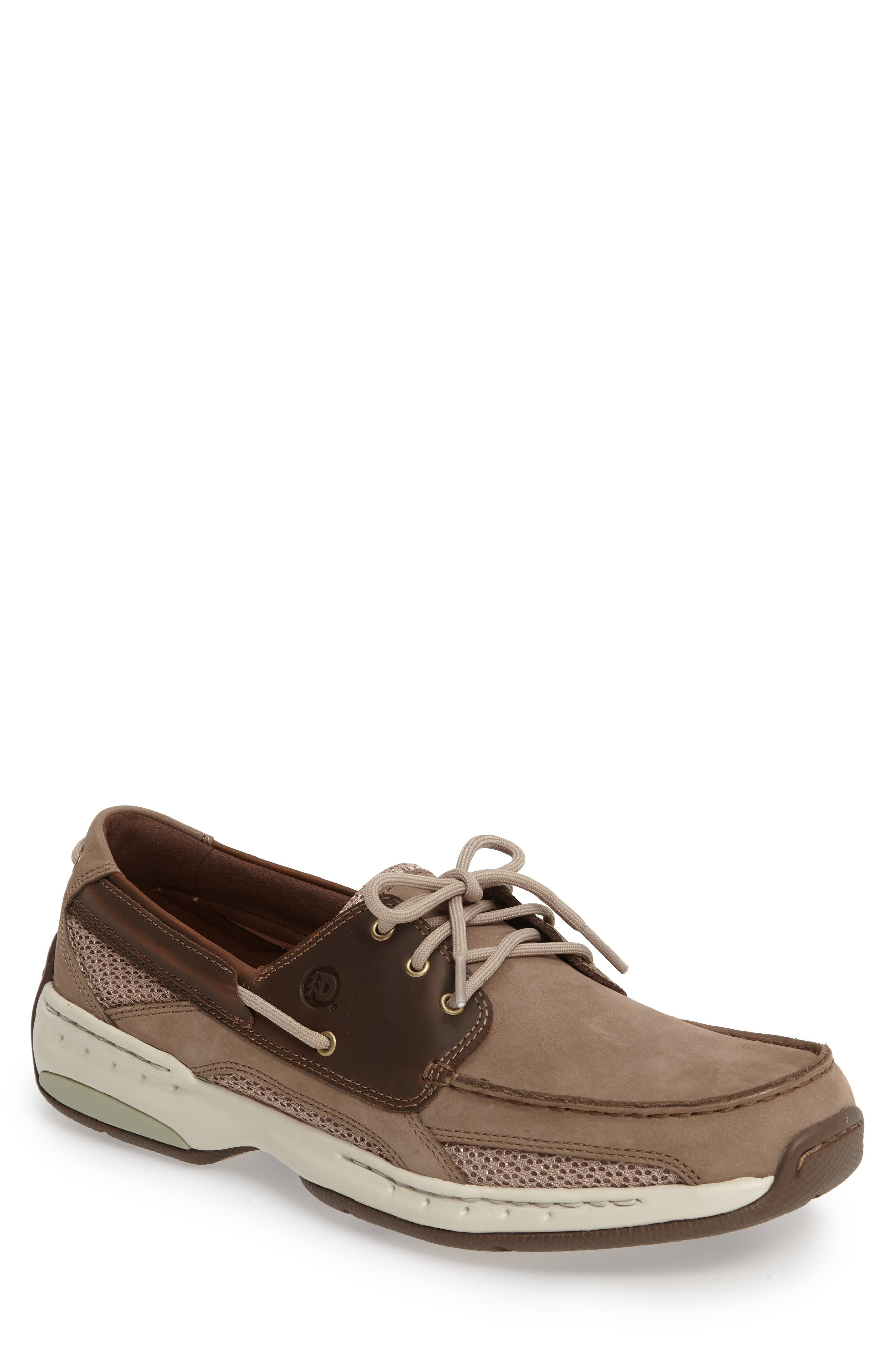 'Captain' Boat Shoe,                         Main,                         color, TAUPE TWO TONE