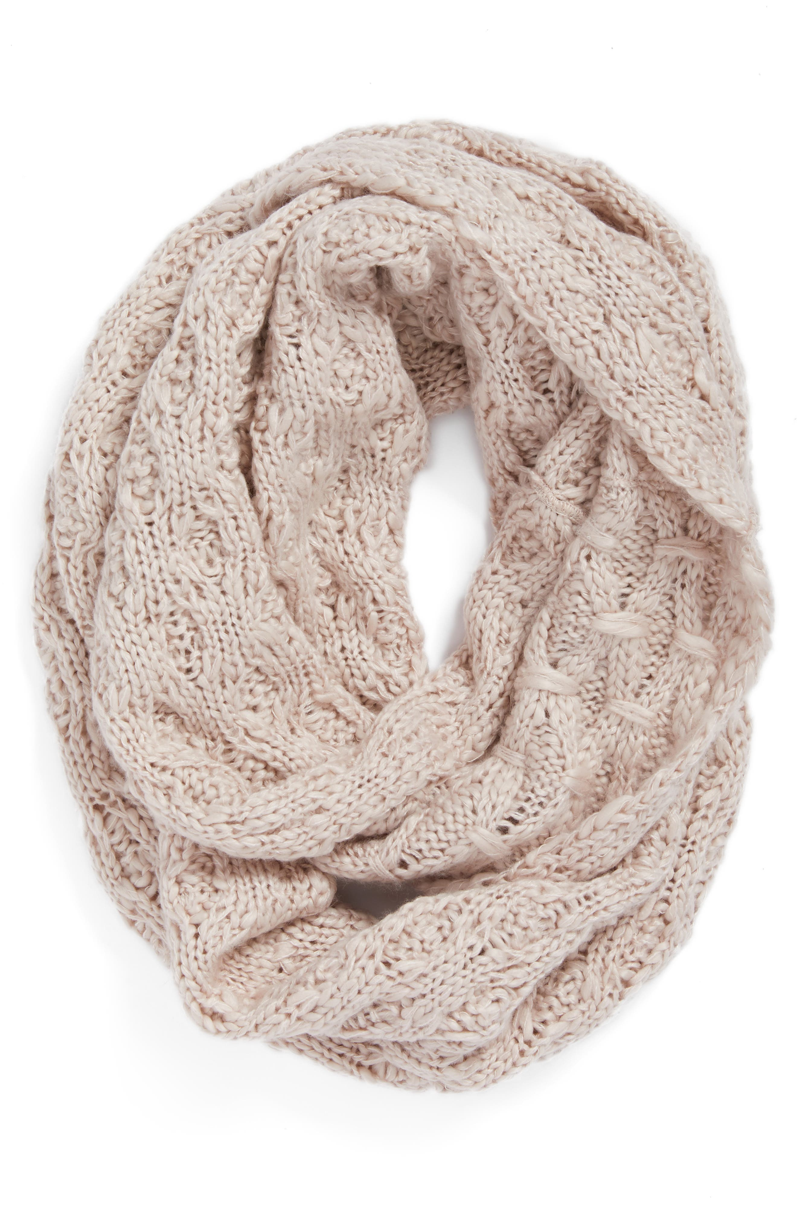 Solid Chunky Knit Infinity Scarf,                             Alternate thumbnail 10, color,