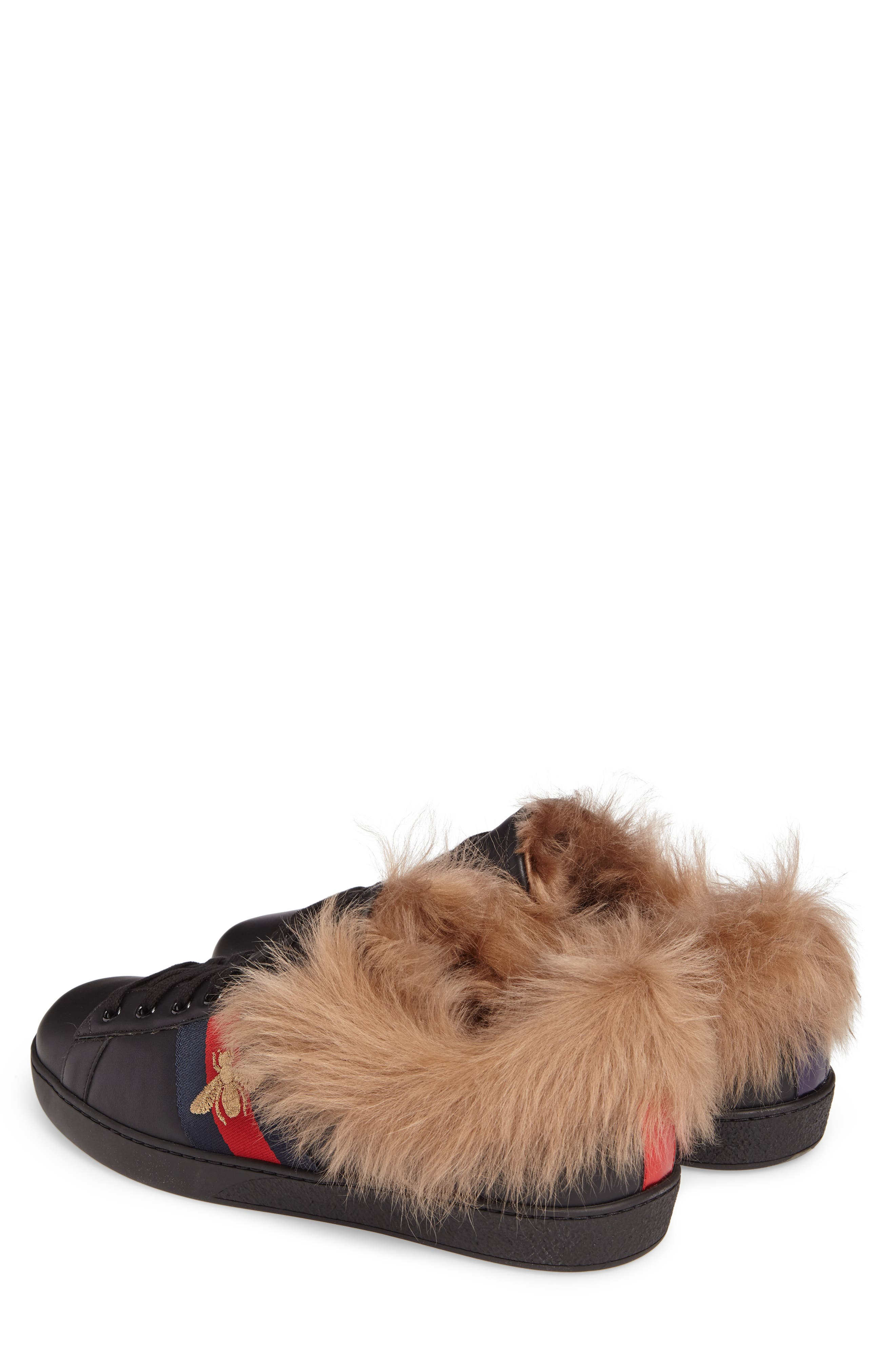 New Ace Genuine Shearling Trim Sneaker,                             Alternate thumbnail 2, color,                             007