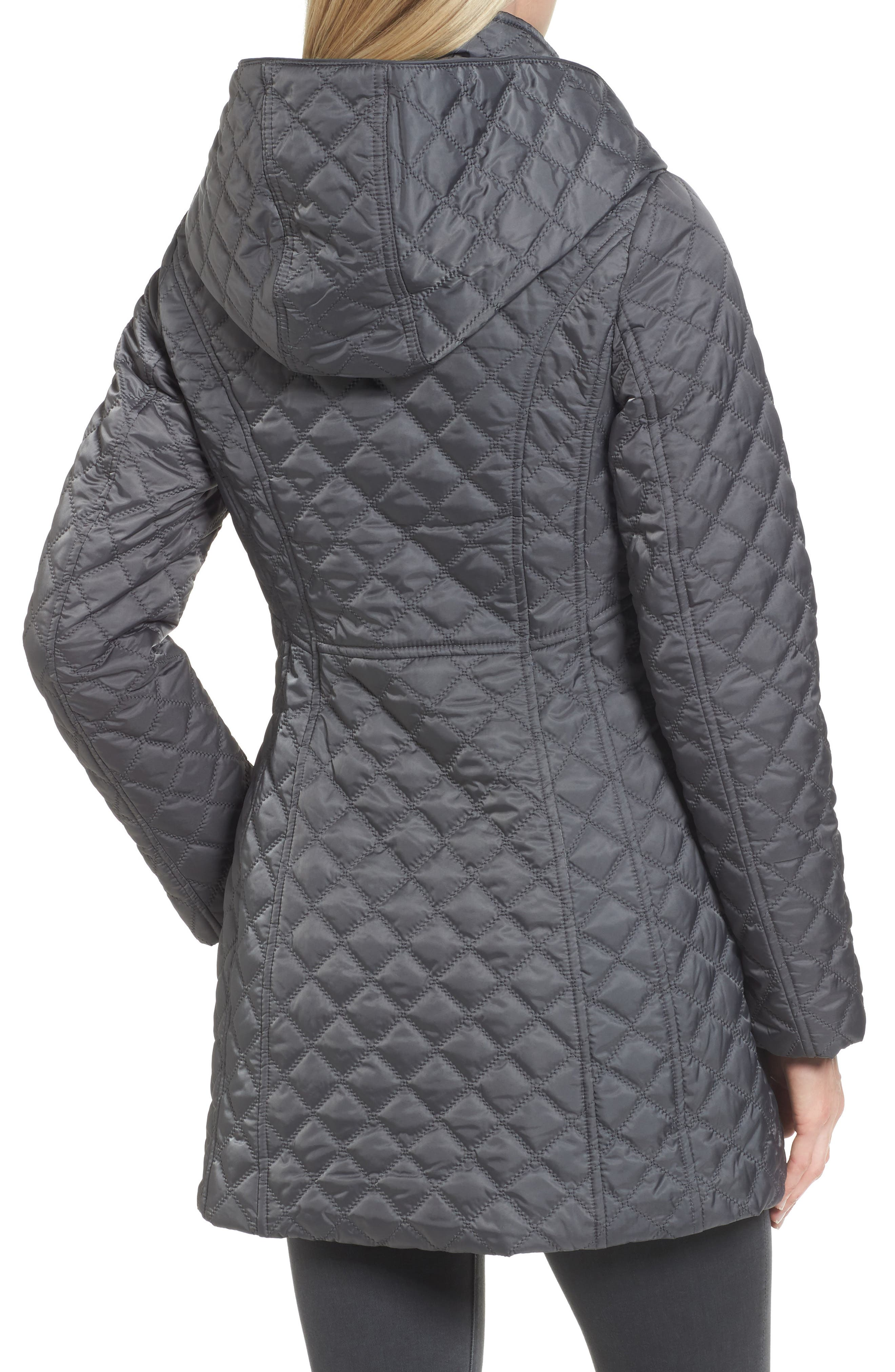 Hooded Quilted Jacket,                             Alternate thumbnail 5, color,