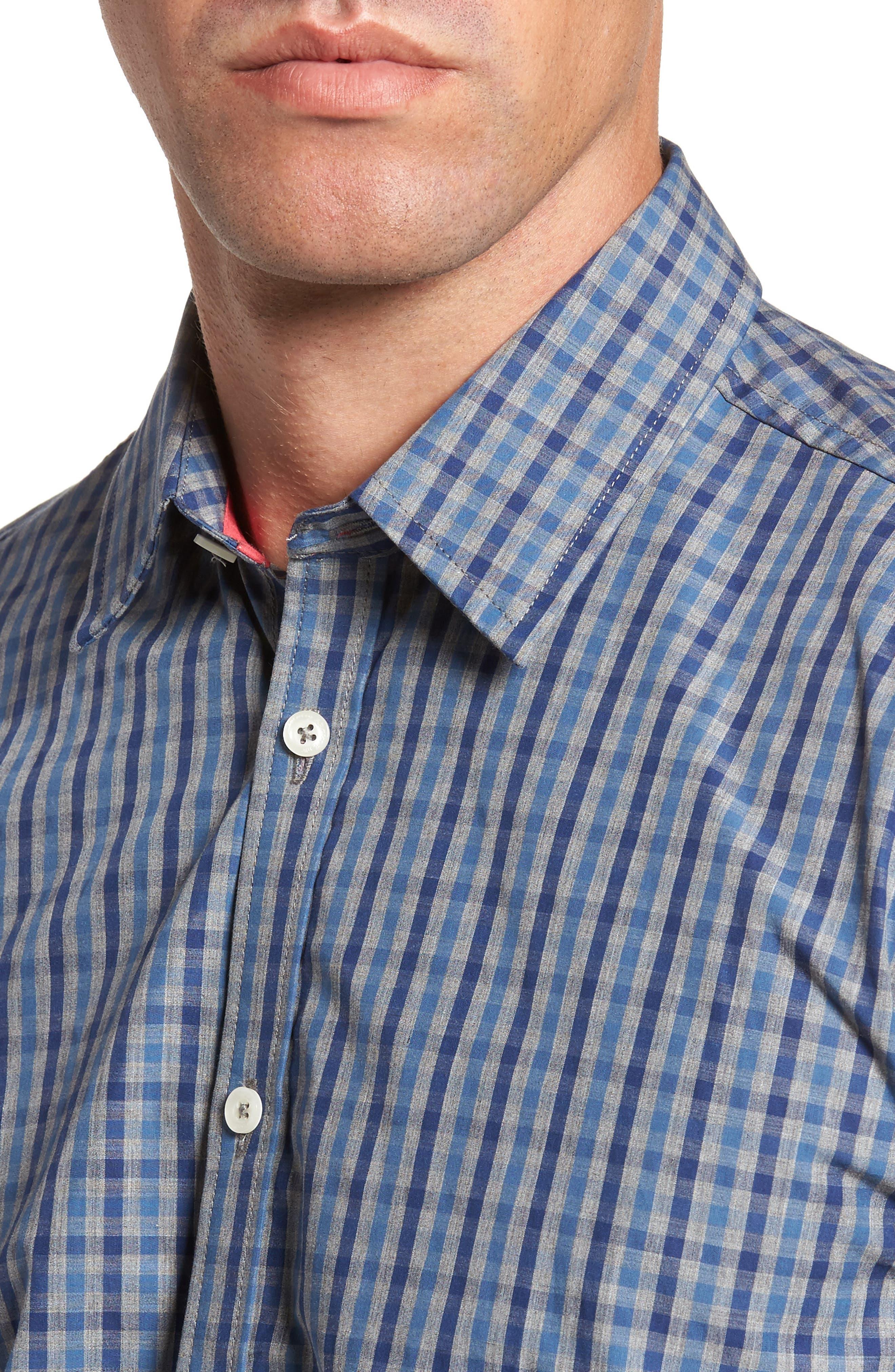 Slim Fit Check Sport Shirt,                             Alternate thumbnail 4, color,                             024
