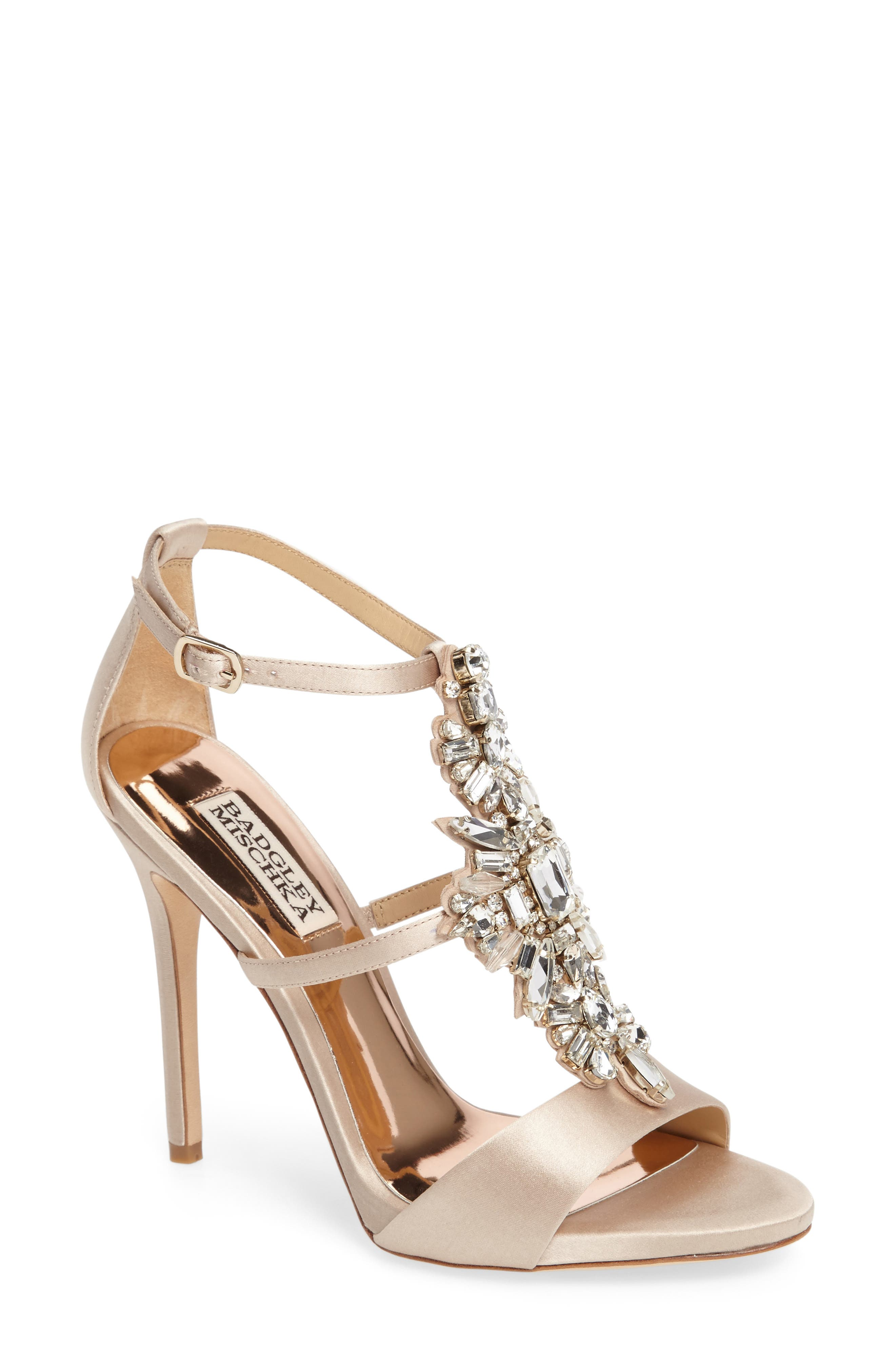 Badgley Mischka Basile Crystal Embellished Sandal,                             Main thumbnail 1, color,                             250
