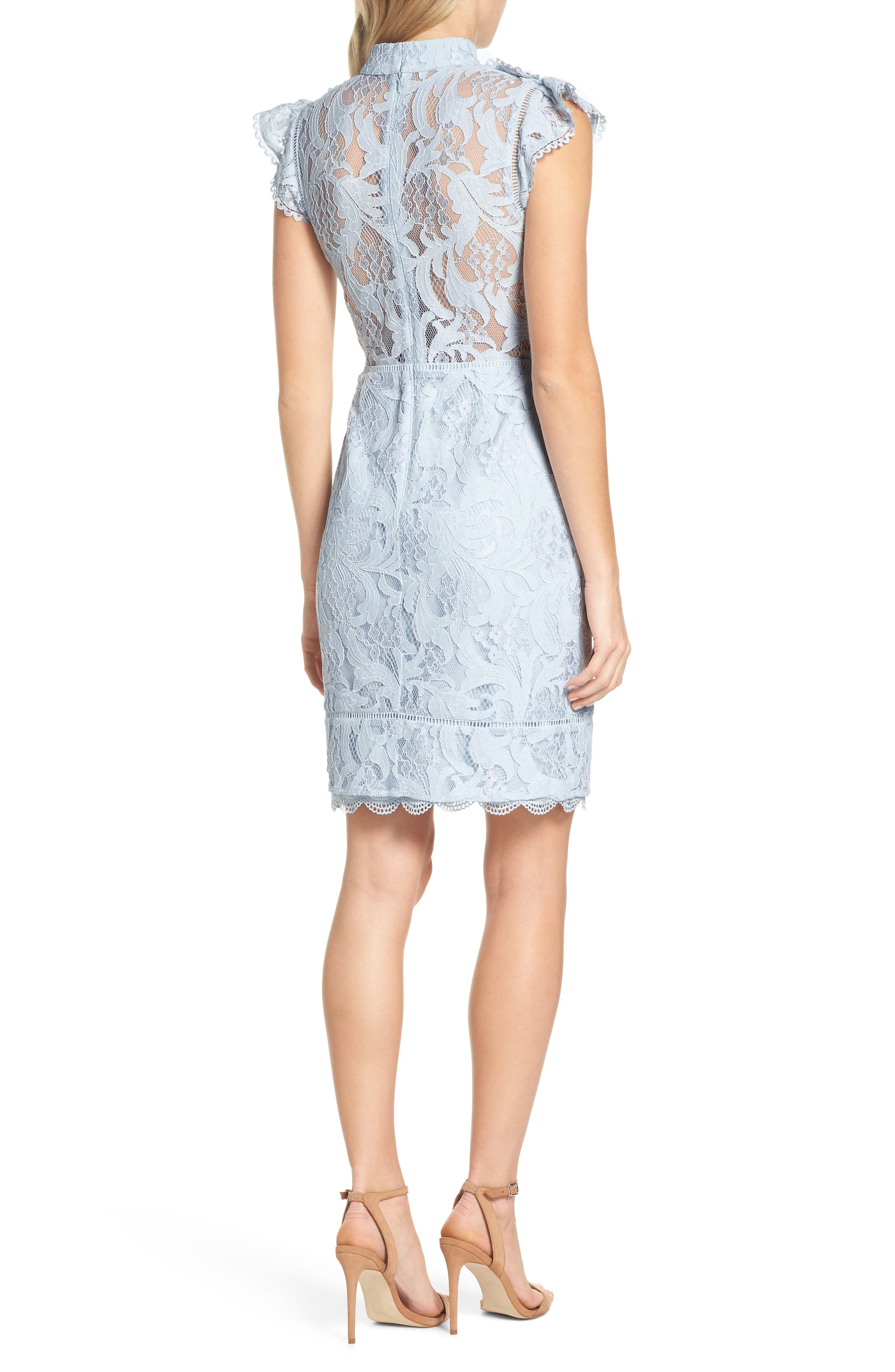 Delilah Lace Sheath Dress,                             Alternate thumbnail 3, color,