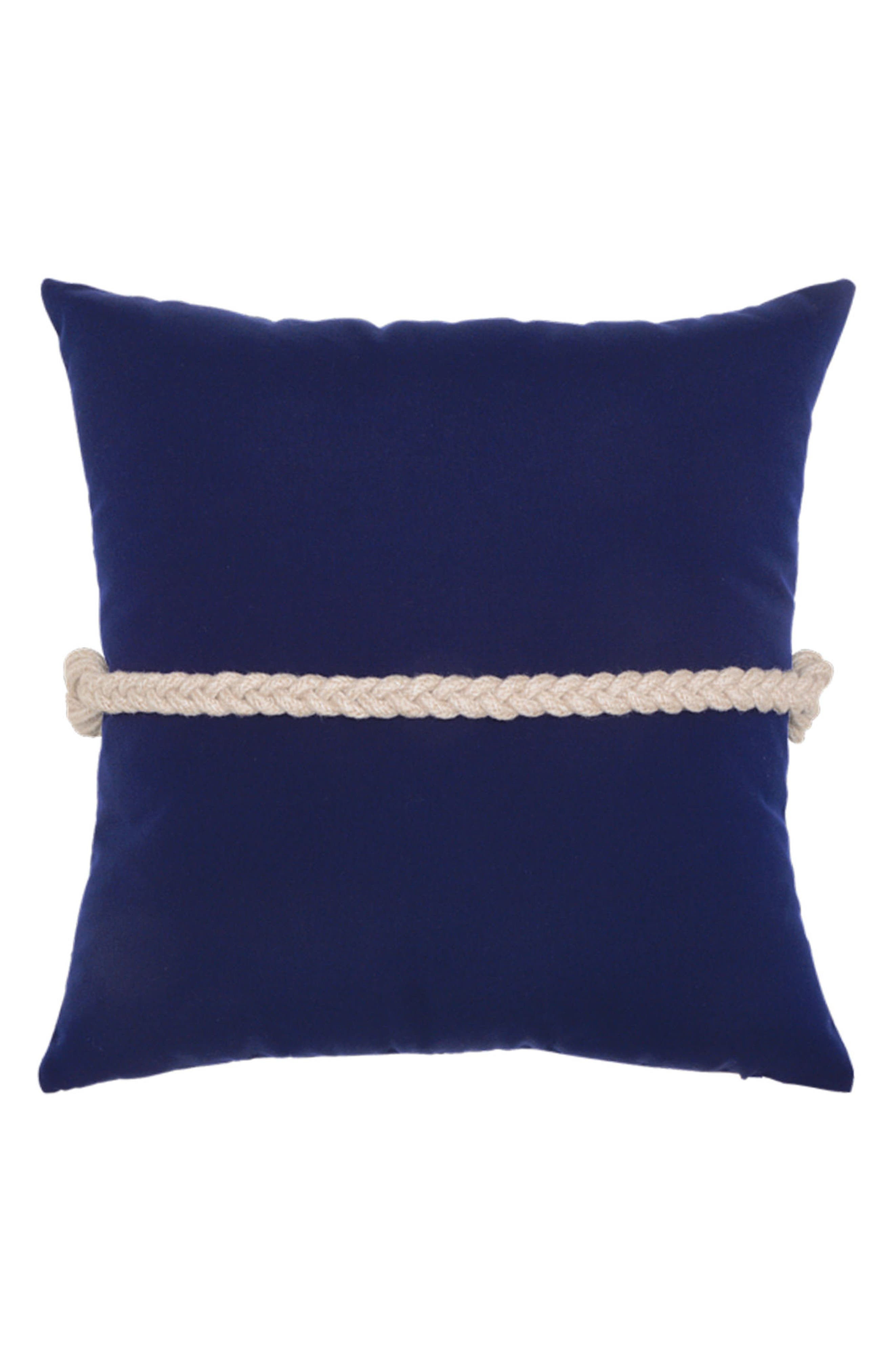 Navy Frogs Clasp Indoor/Outdoor Accent Pillow,                             Alternate thumbnail 2, color,                             BLUE
