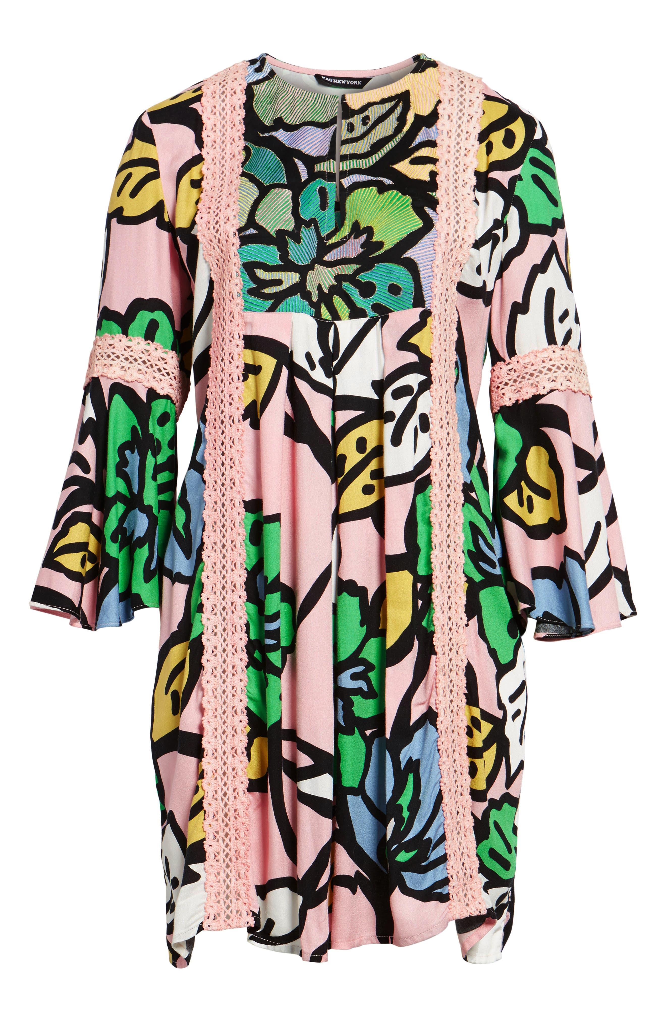 Ancona Mod Print Shift Dress,                             Alternate thumbnail 7, color,