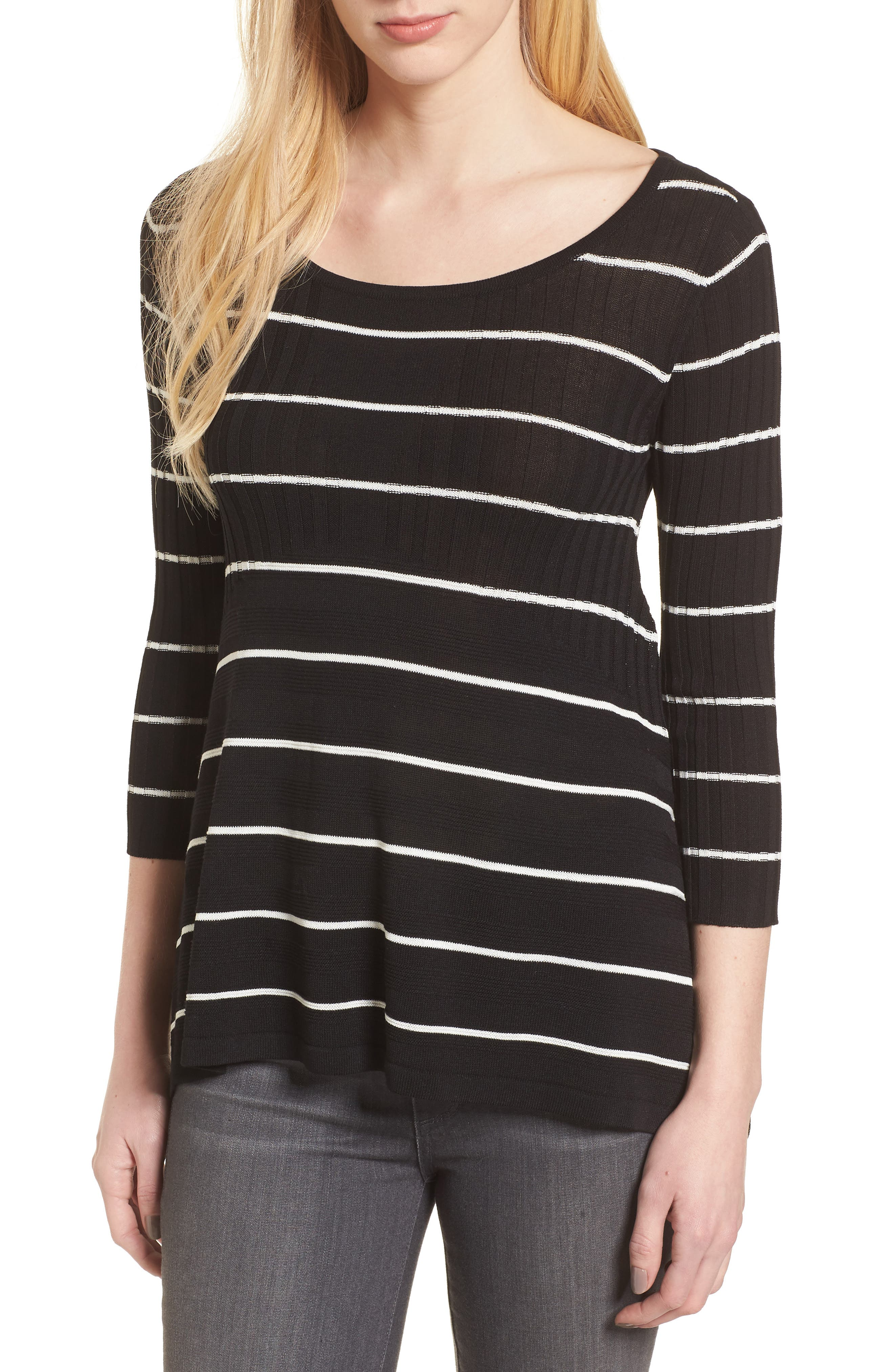 Sumo Stripe Sweater,                         Main,                         color, BLACK