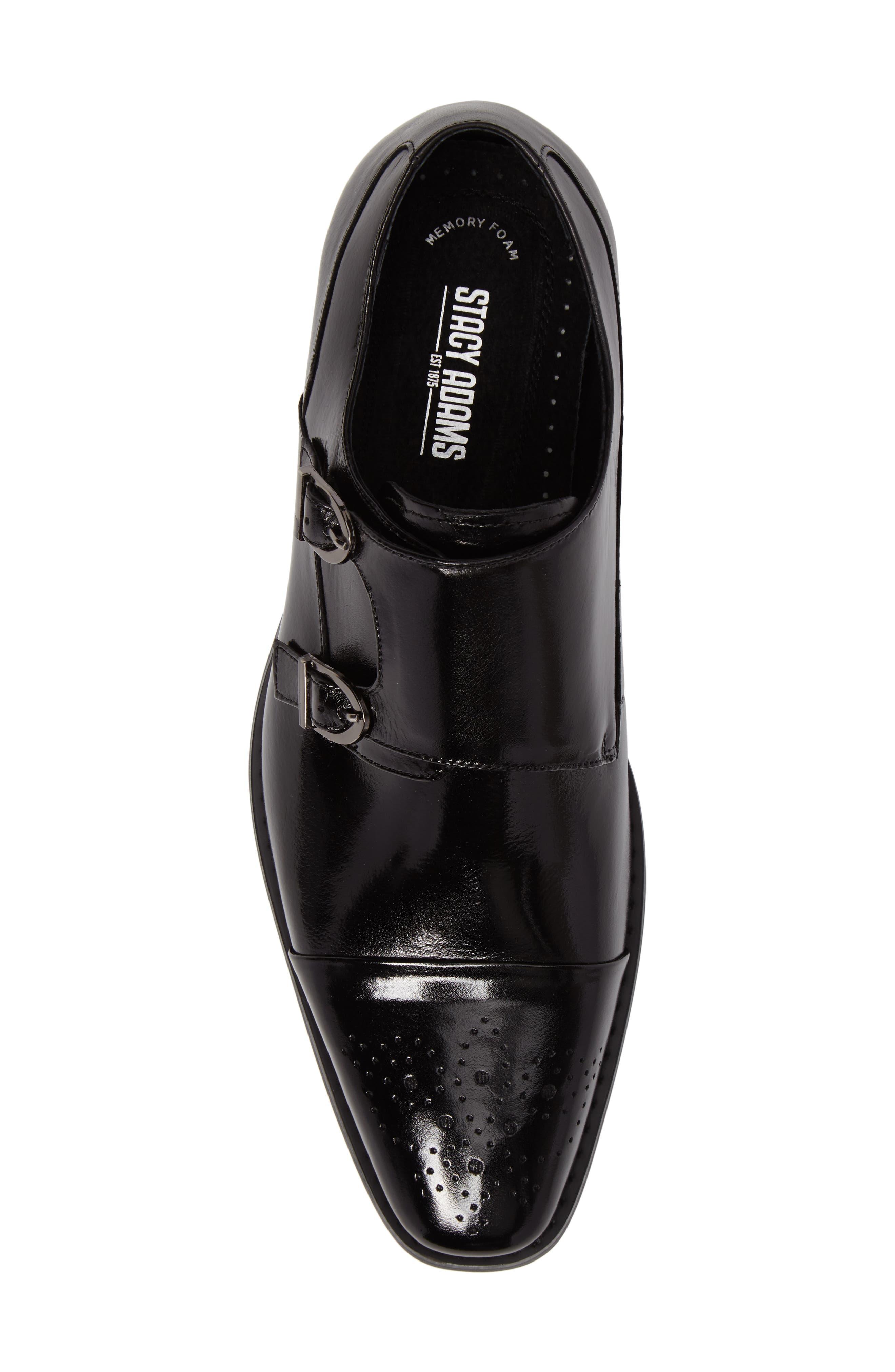 Trevor Double Monk Strap Shoe,                             Alternate thumbnail 5, color,                             001