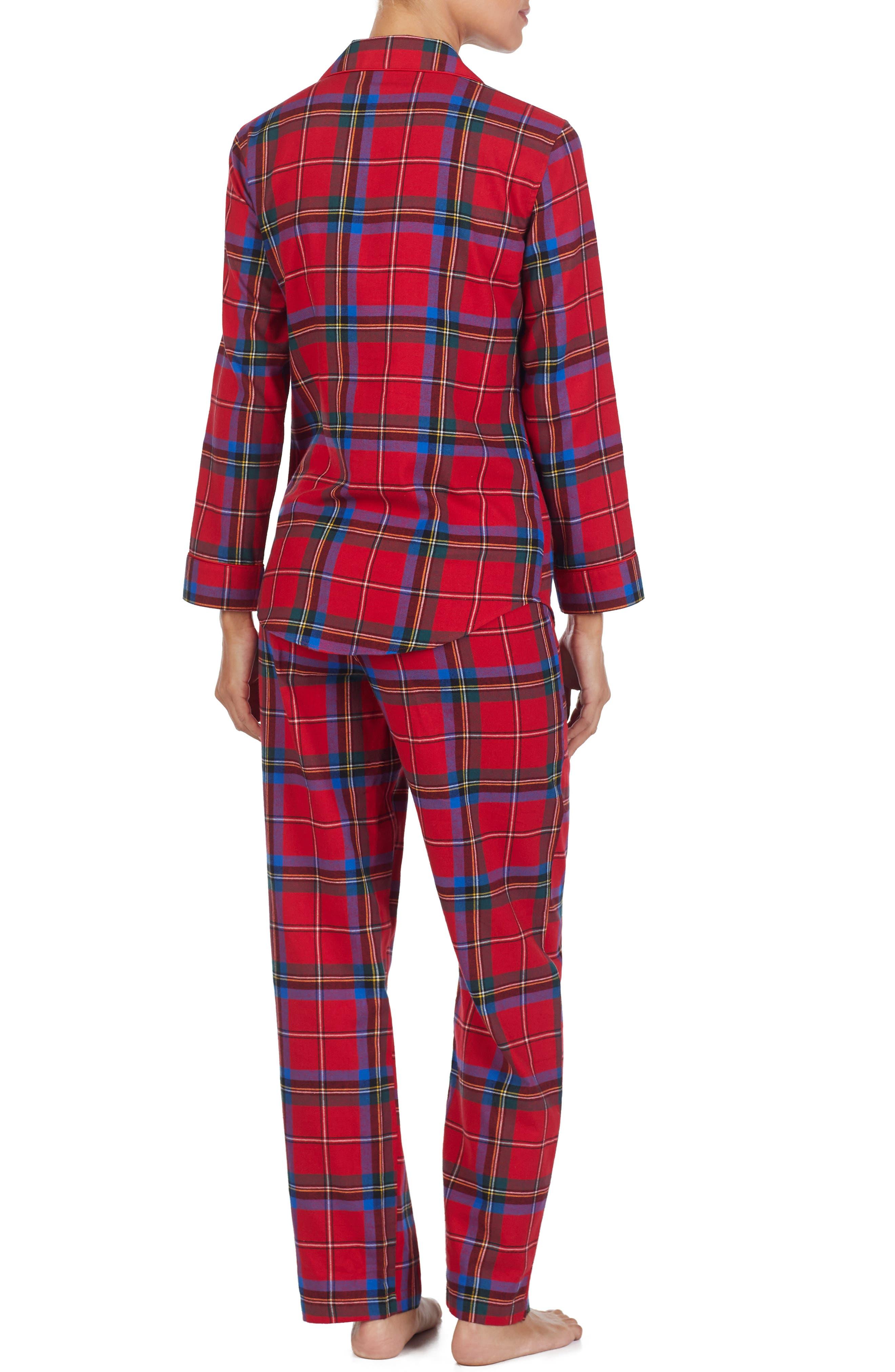 LAUREN RALPH LAUREN,                             Flannel Pajamas,                             Alternate thumbnail 2, color,                             644