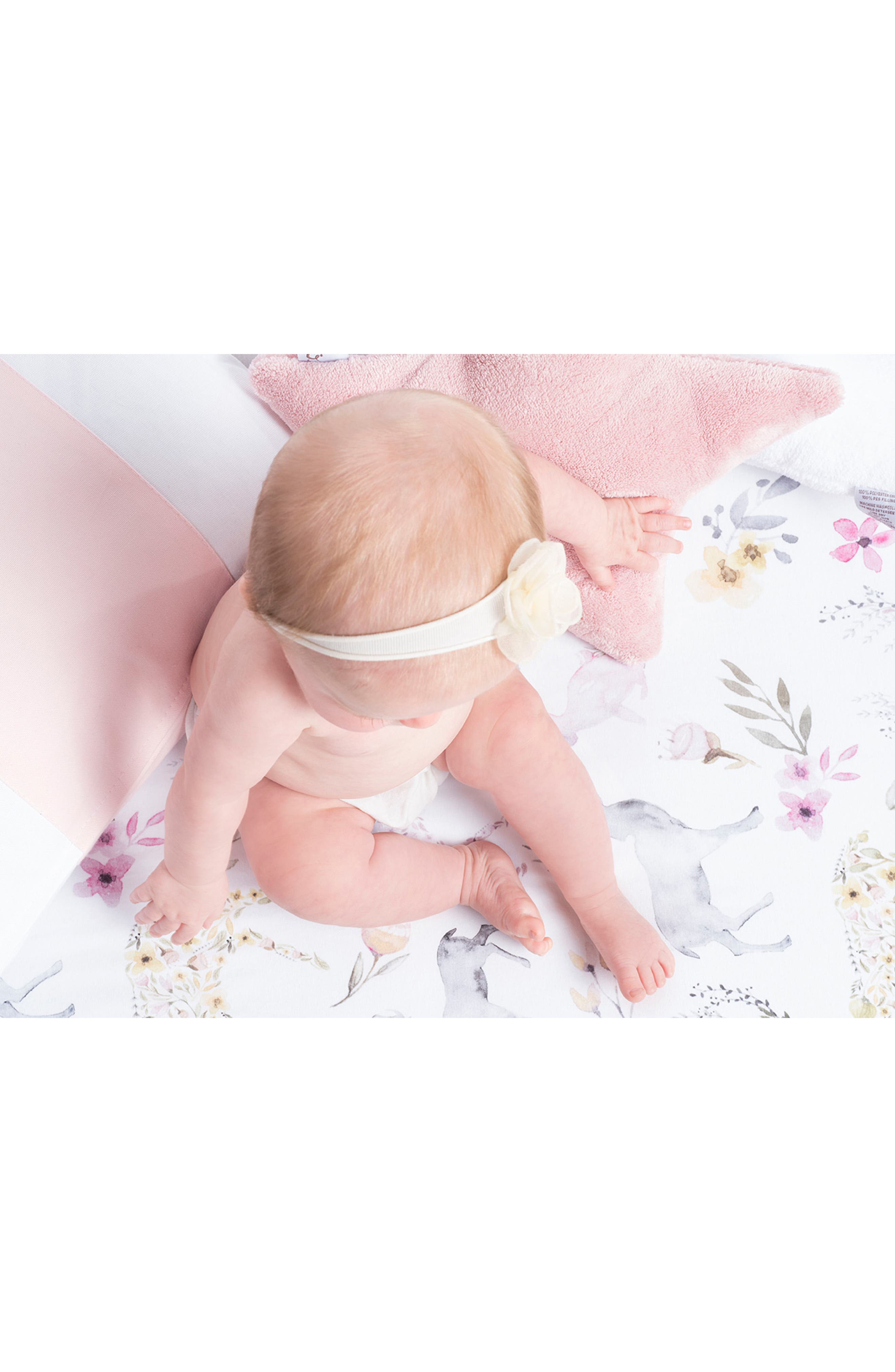 Fitted Crib Sheet,                             Alternate thumbnail 3, color,                             BLUSH FAWN