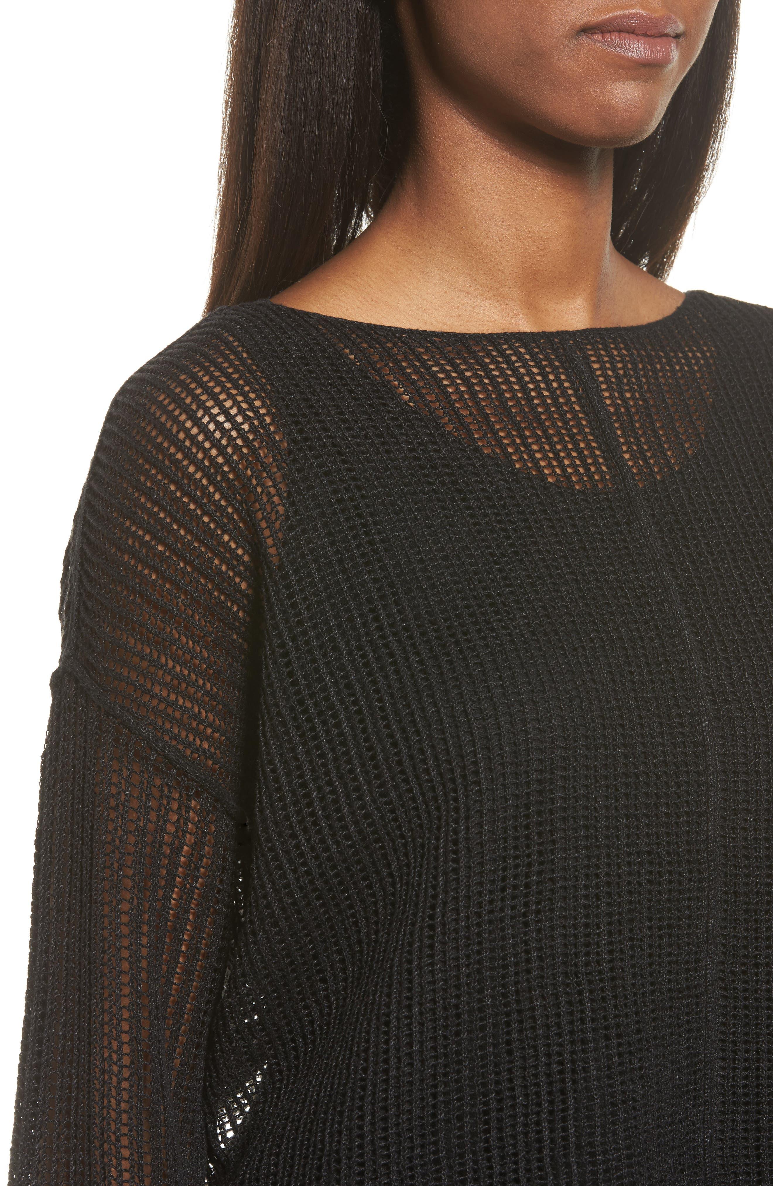 Organic Linen Crop Sweater,                             Alternate thumbnail 16, color,