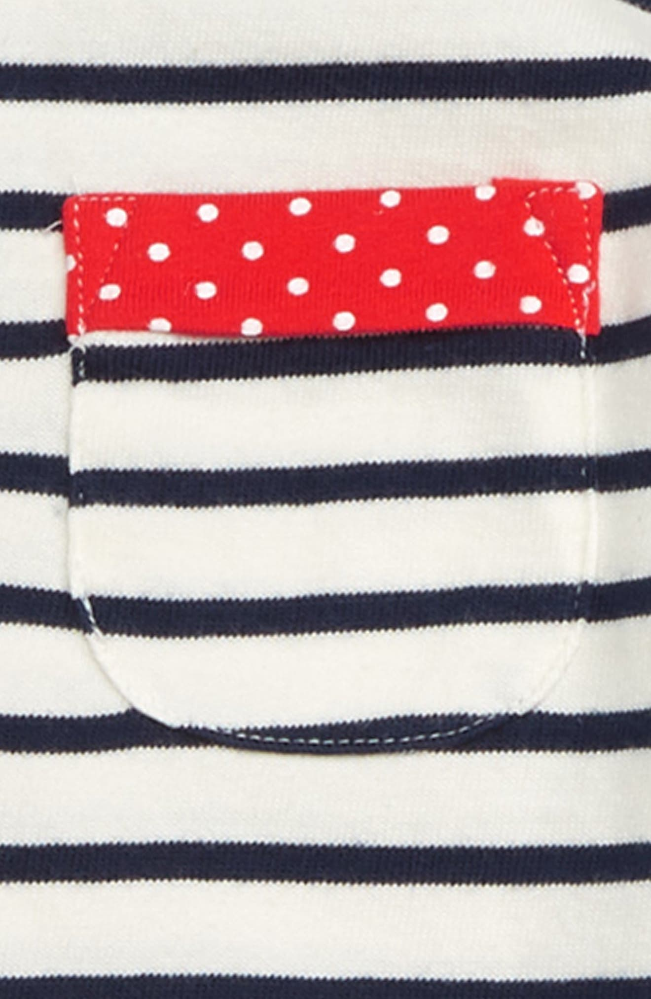Stripy Pocket Tunic,                             Alternate thumbnail 2, color,                             ECRU/ SCHOOL NAVY