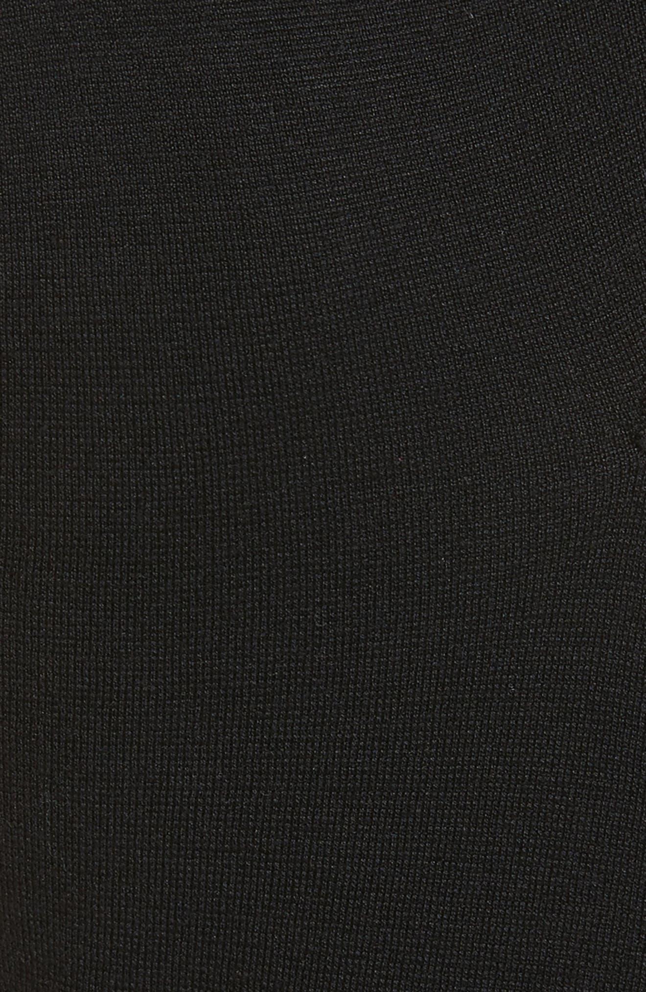 Asymmetrical Knit Tunic,                             Alternate thumbnail 5, color,                             001